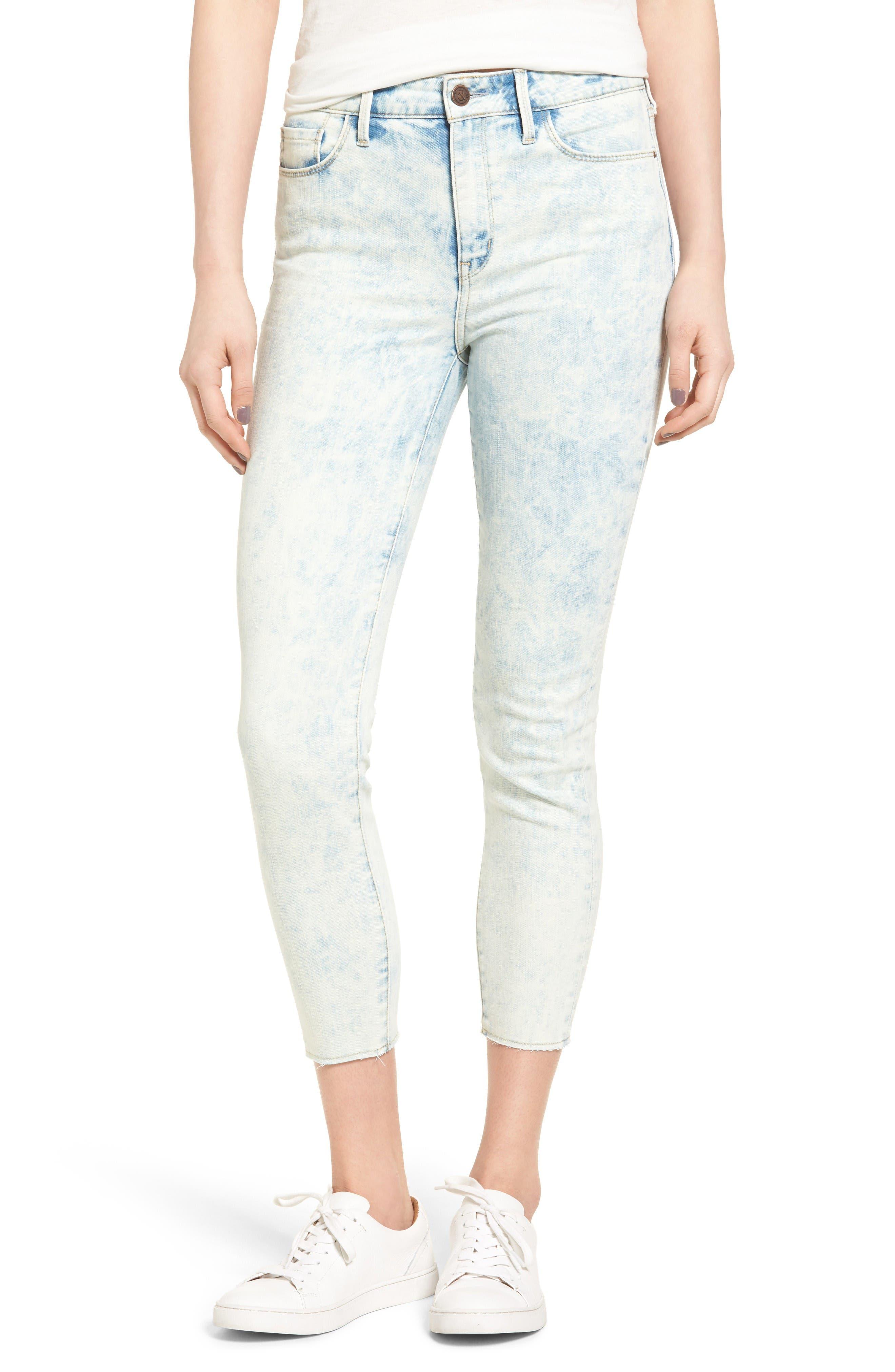 Treasure & Bond High Rise Skinny Crop Jeans (Acid Spray Bleach)