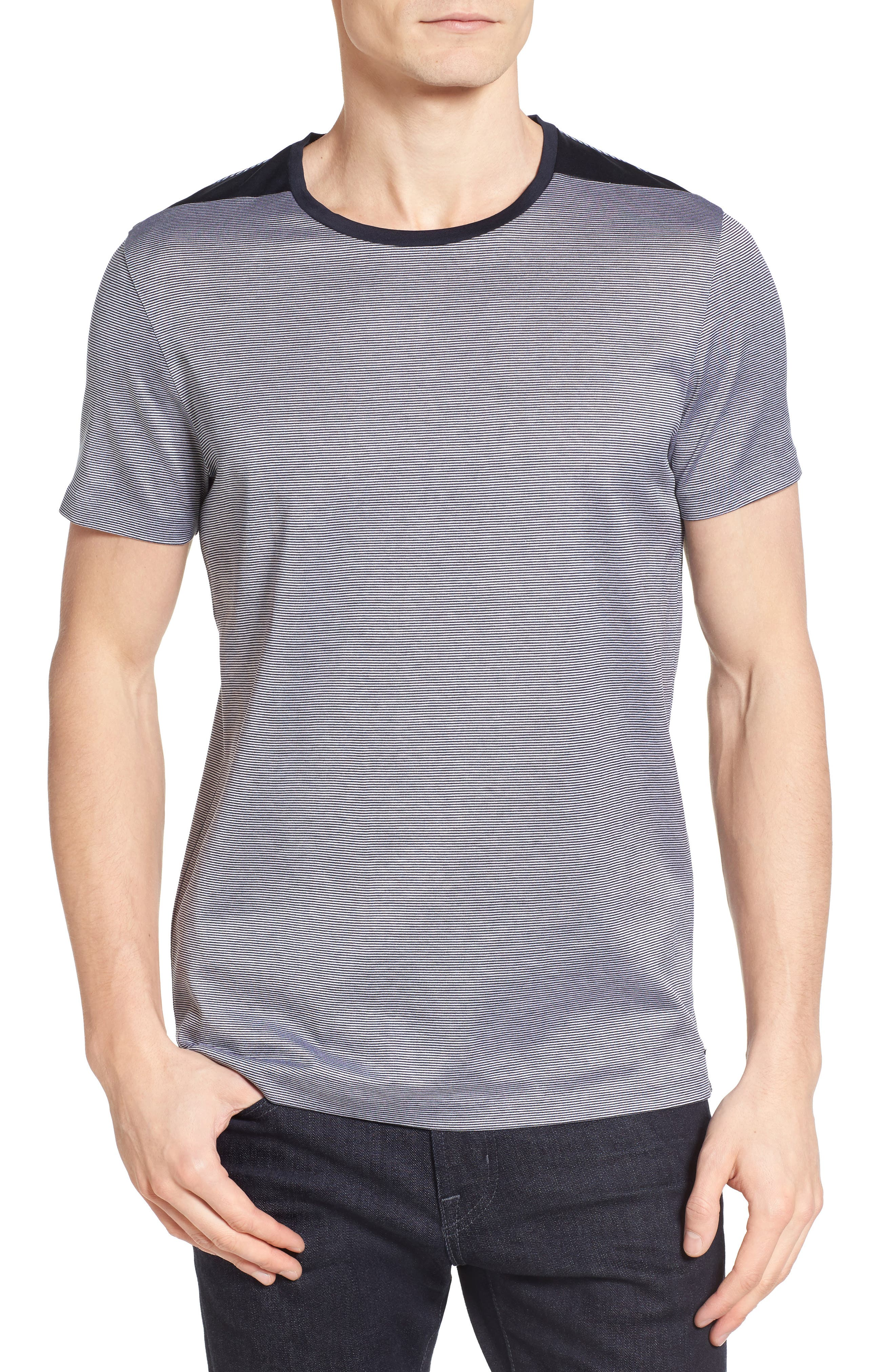 BOSS Tessler Stripe Mercerized Cotton T-Shirt