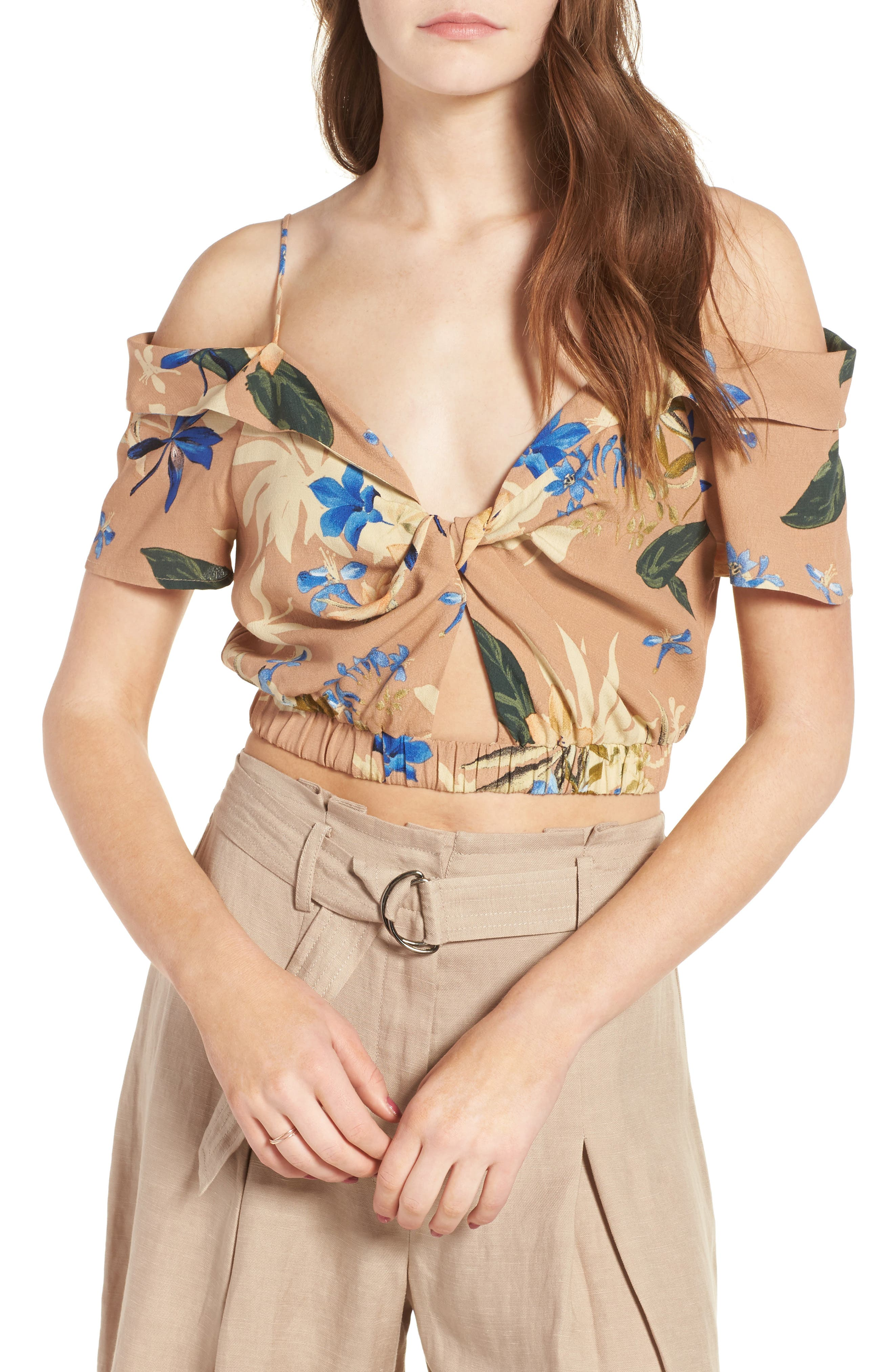 Alternate Image 1 Selected - ASTR the Label Clementine Crop Top