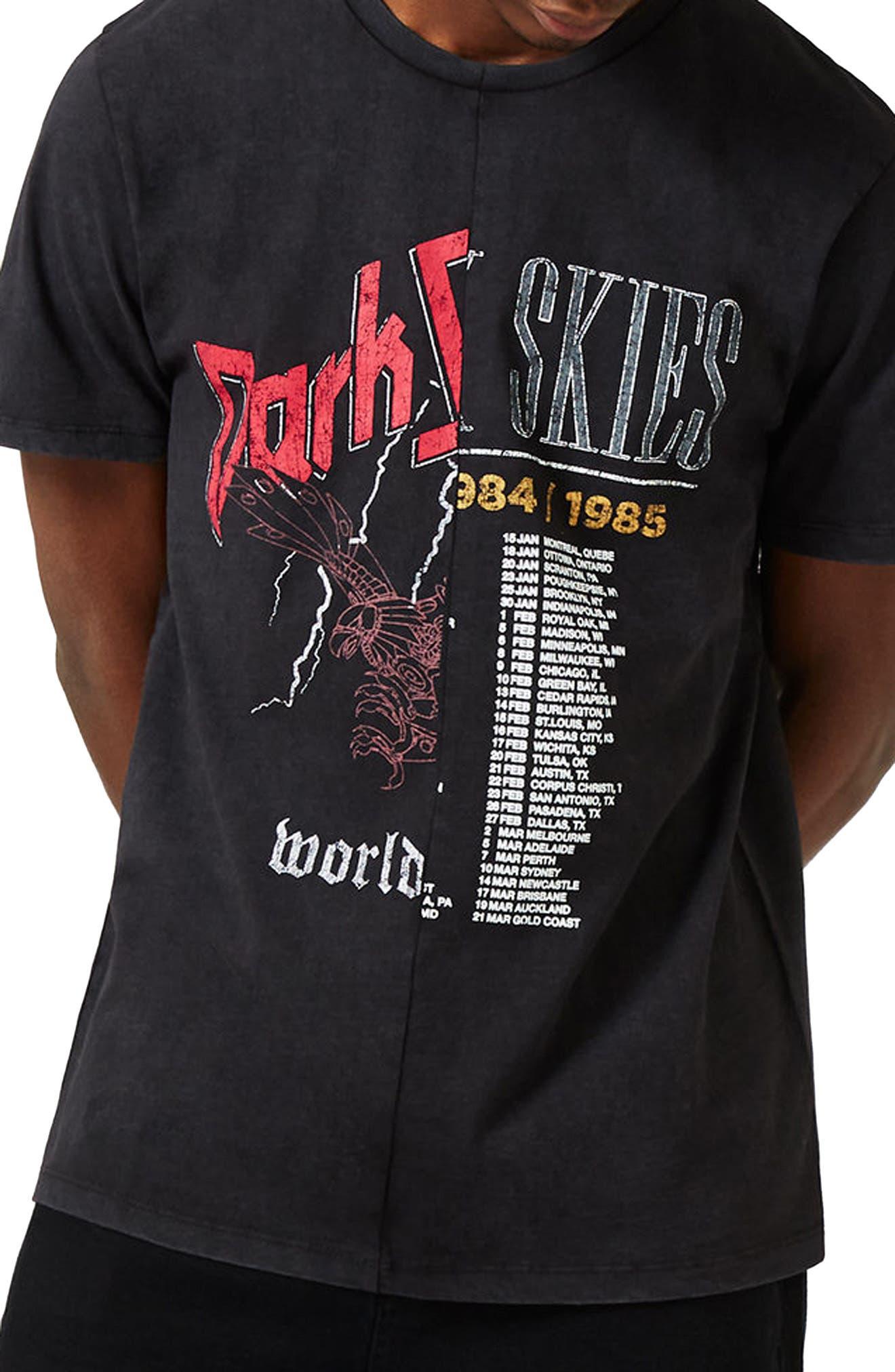 Main Image - Topshop Spliced Band Graphic T-Shirt
