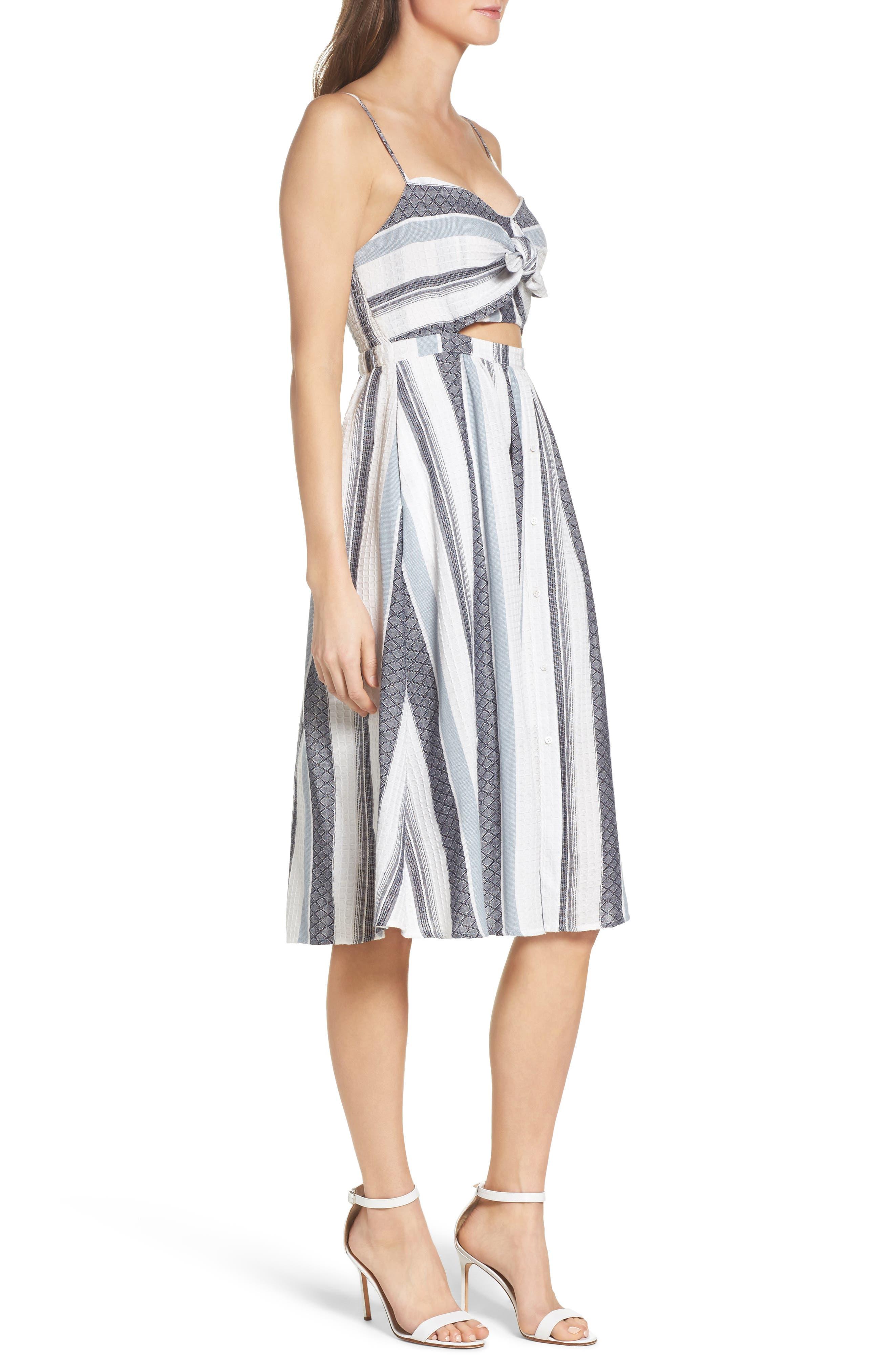 Alternate Image 3  - Bardot Ibiza Stripe Cotton Bow Front Sundress