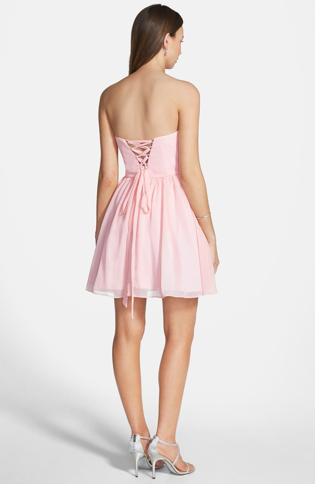 Alternate Image 2  - Steppin Out Sequin Bodice Fit & Flare Dress (Juniors)