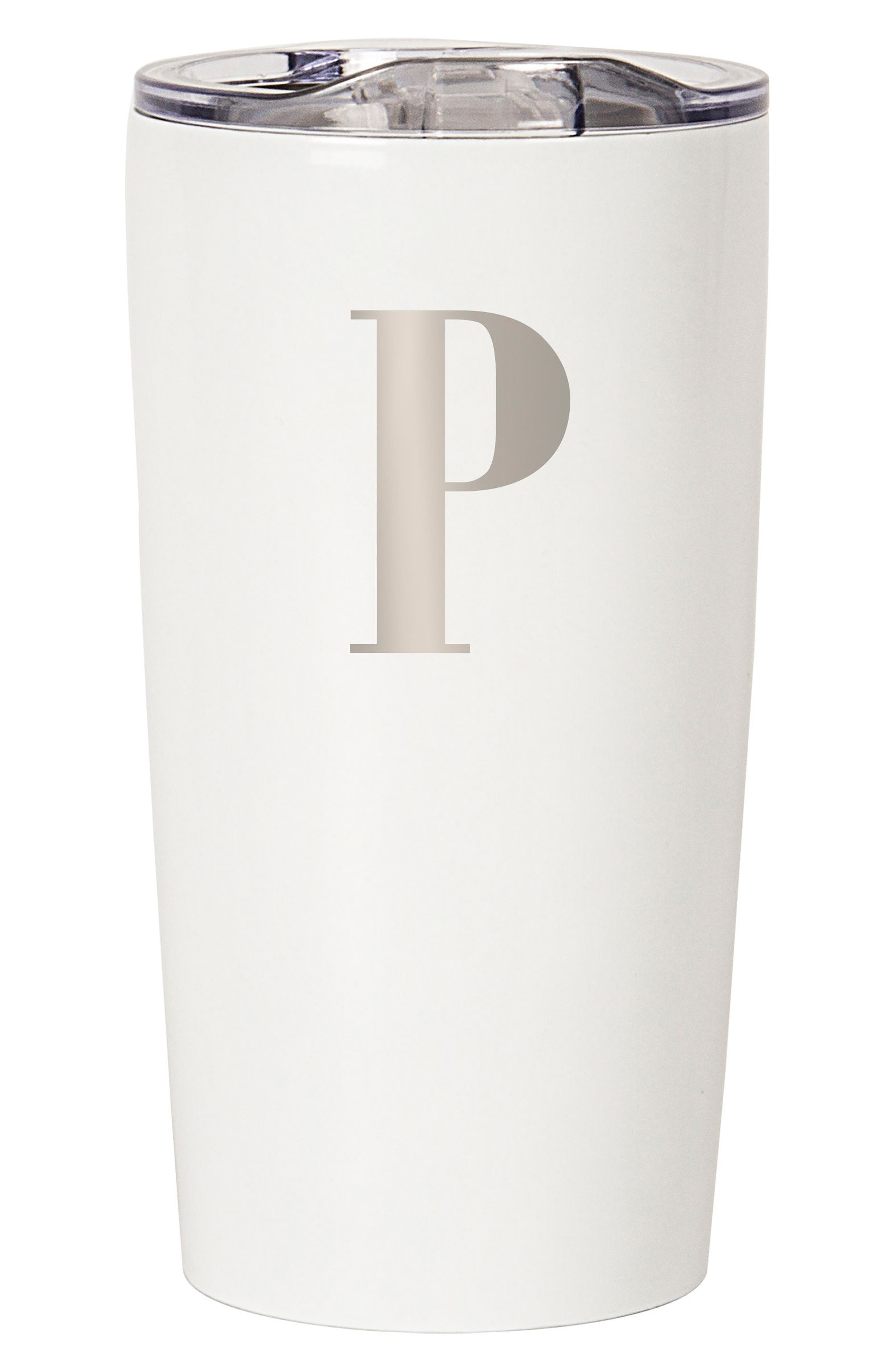 CATHY'S CONCEPTS Monogram Stainless Steel Tumbler