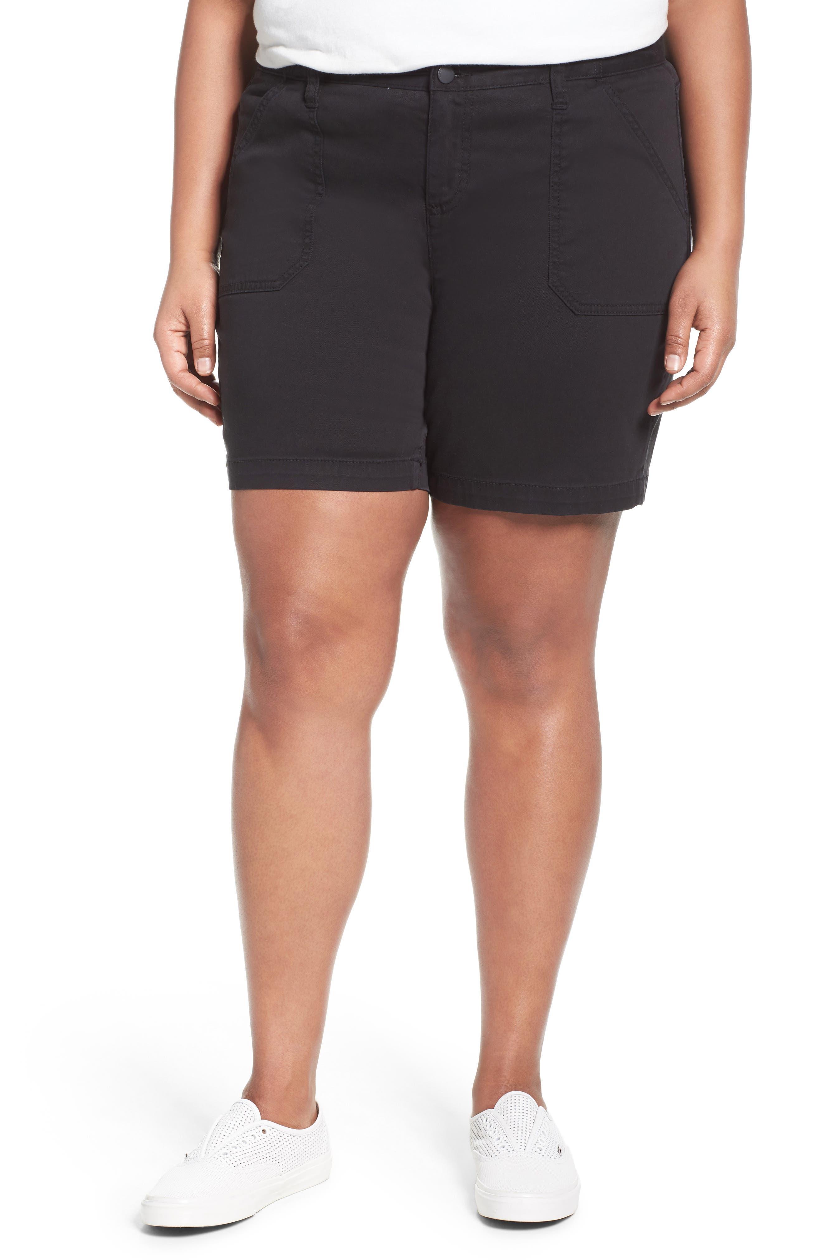 Caslon® Utility Shorts (Plus Size)
