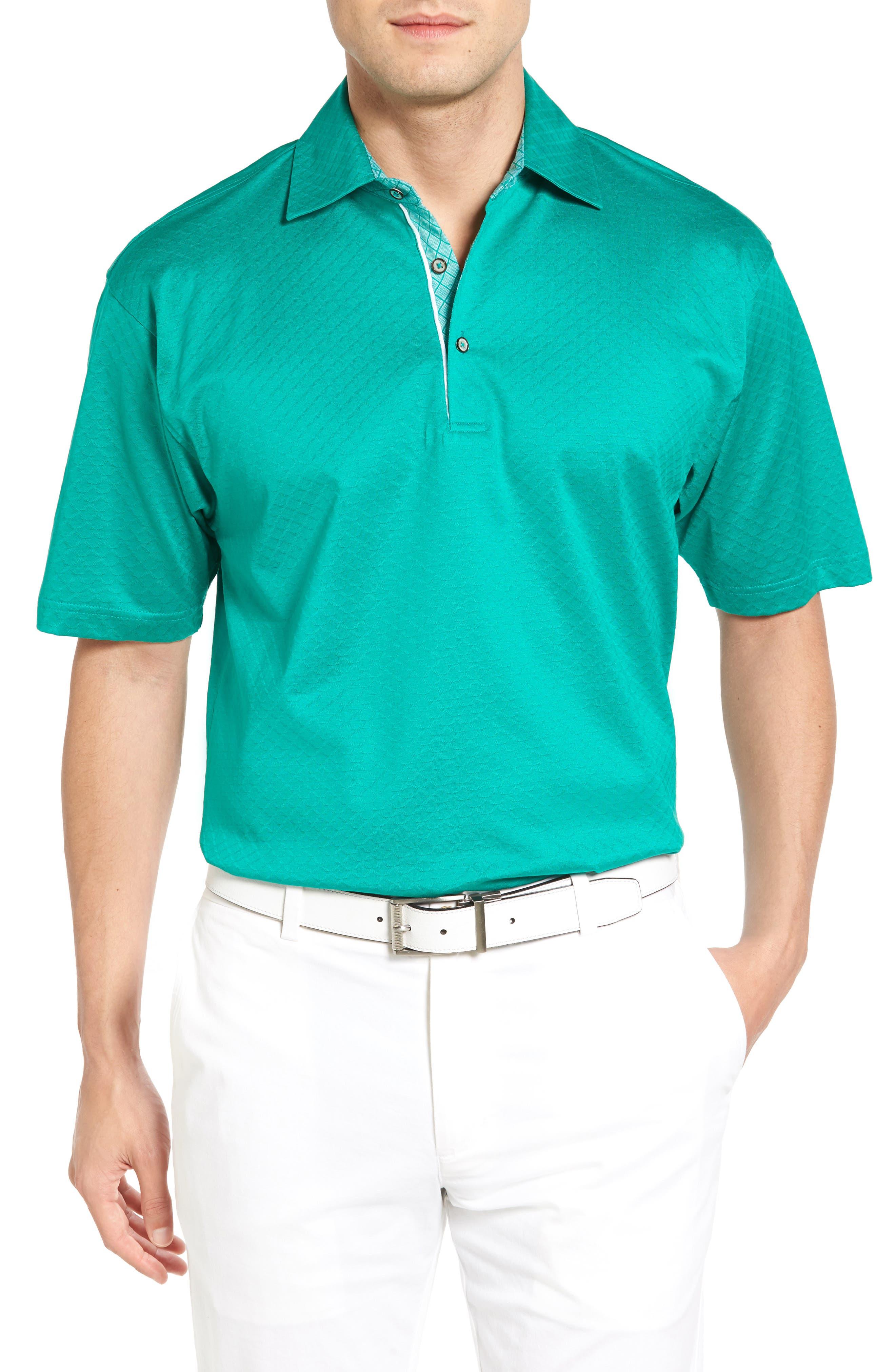 Bobby Jones Diamond Jacquard Golf Polo