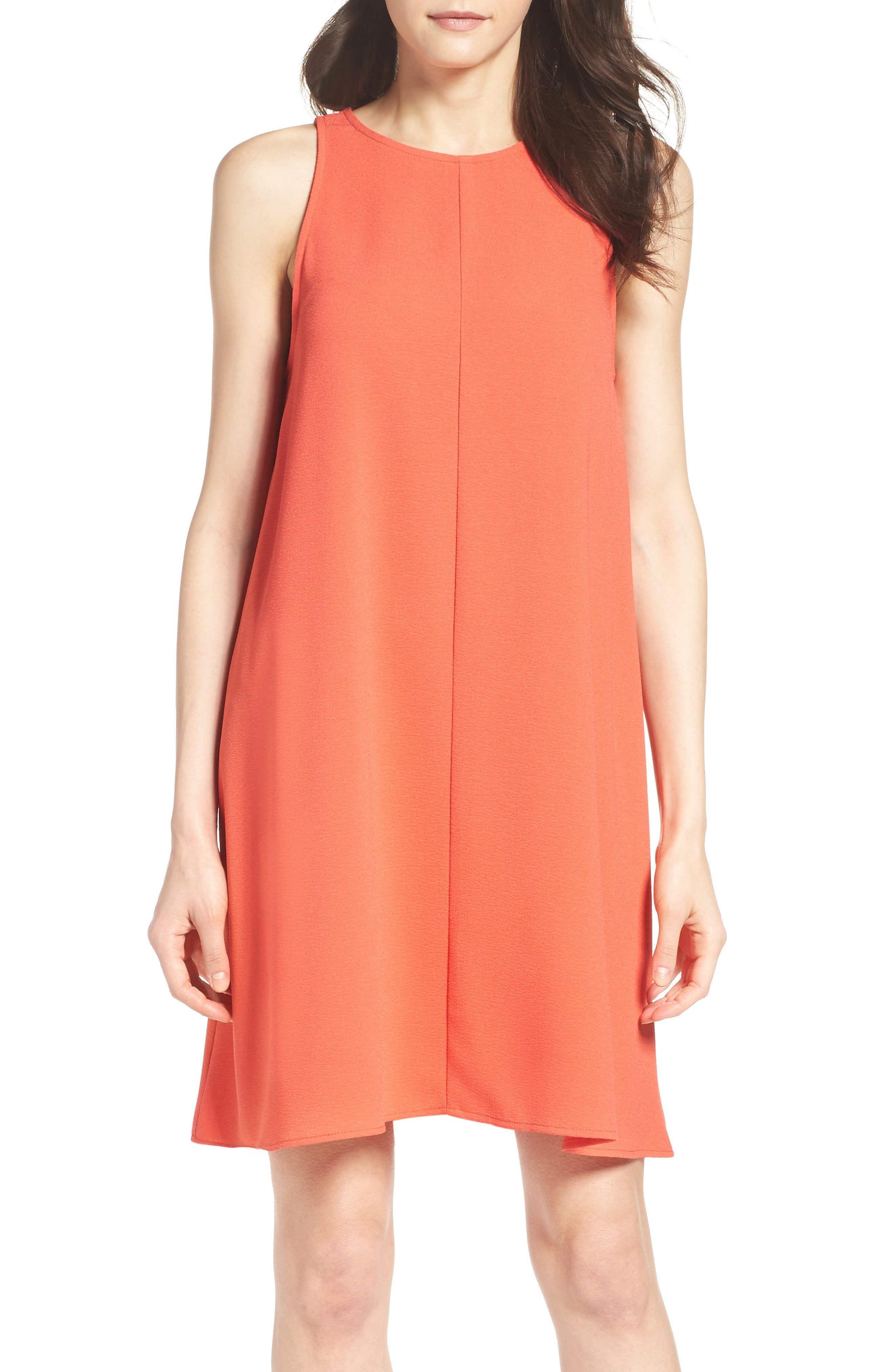CHARLES HENRY Crepe Sleeveless Dress