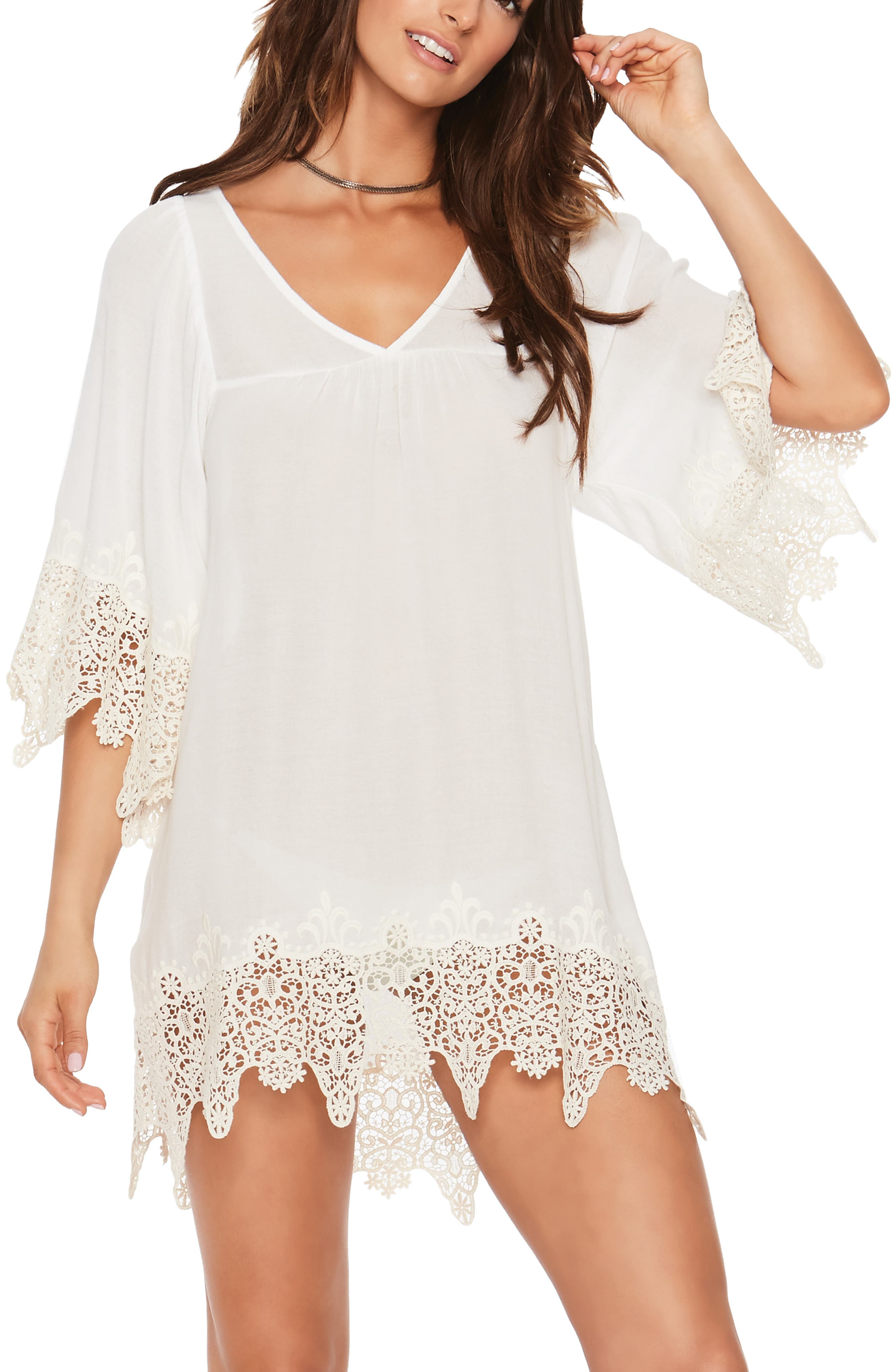 Alternate Image 4  - L Space Lace Cover-Up Tunic