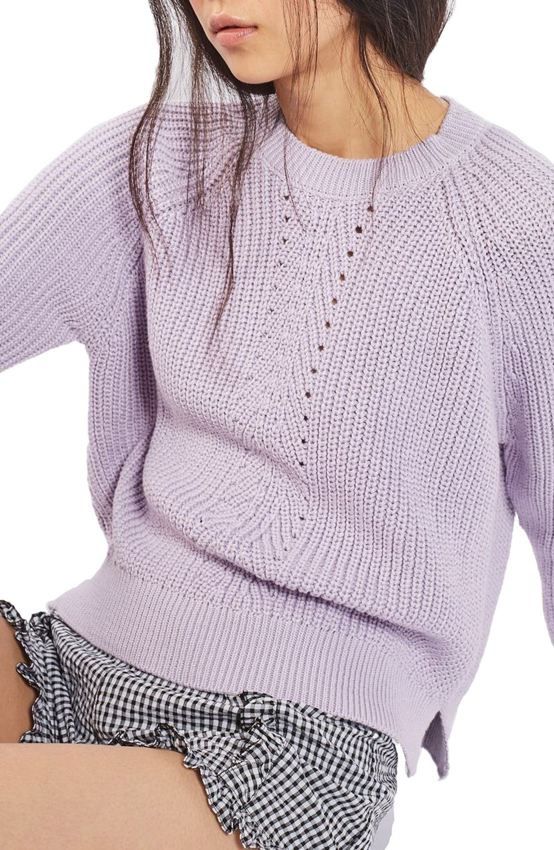 TOPSHOP Boxy Ribbed Sweater