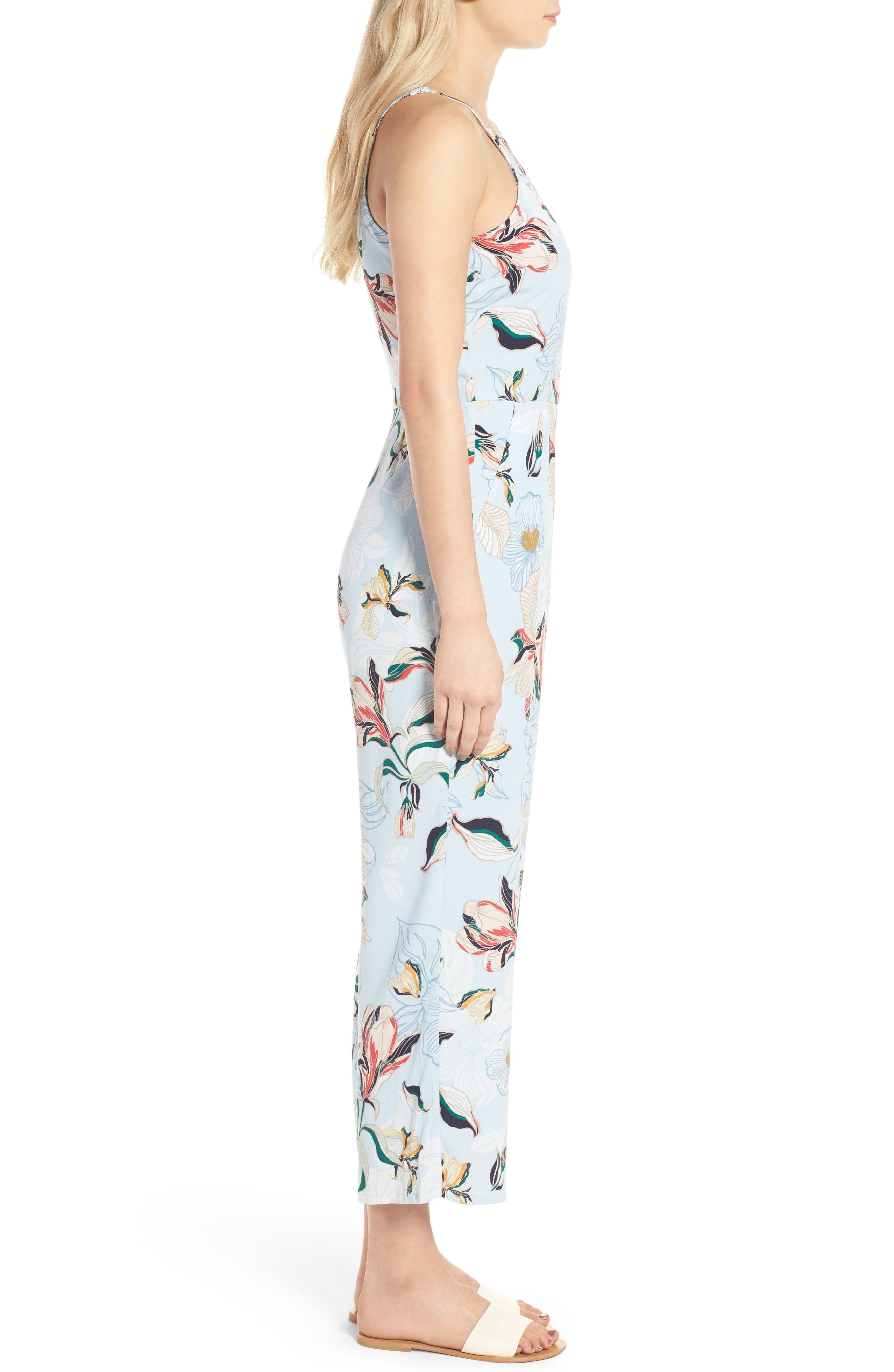 Alternate Image 3  - cupcakes and cashmere Darsy Floral Print Jumpsuit
