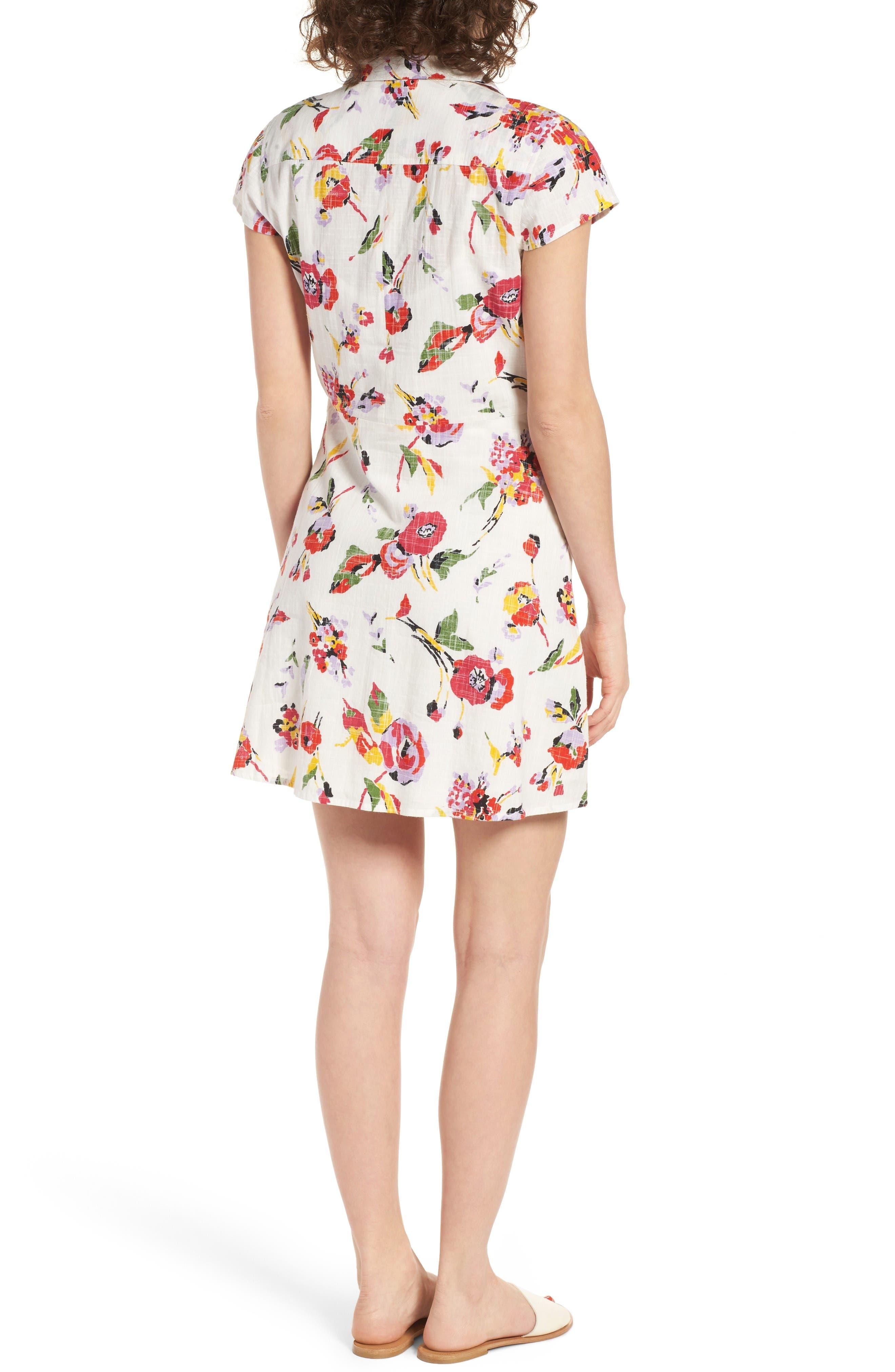 Alternate Image 2  - Obey Desi Floral Print Cotton Dress
