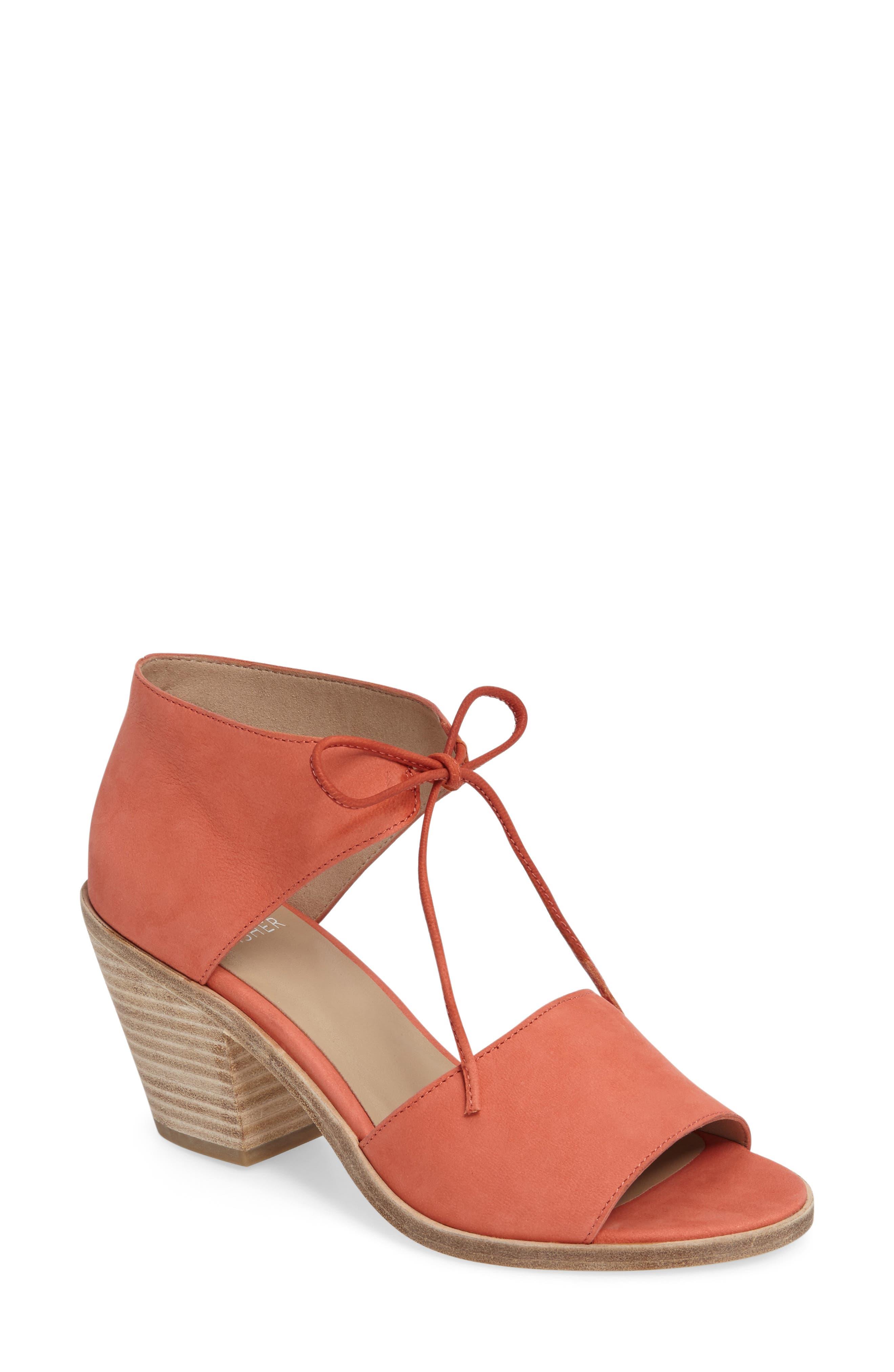 Alternate Image 1 Selected - Eileen Fisher Ann Ankle Tie Sandal (Women)