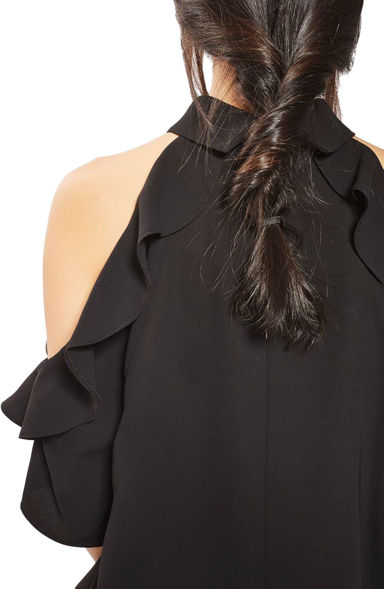 Alternate Image 5  - Topshop Ruffle Cold Shoulder Top