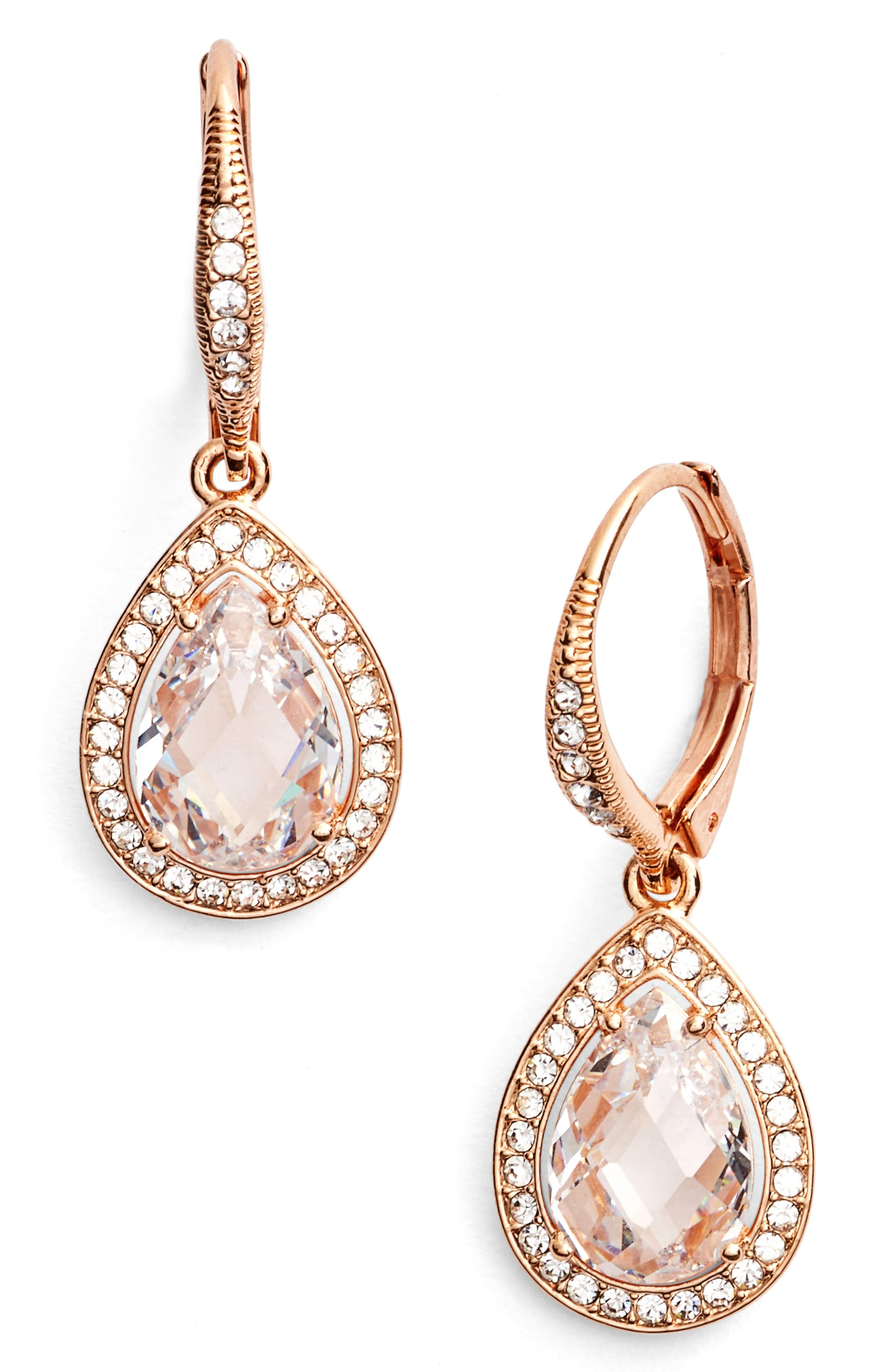 Alternate Image 1 Selected - Nadri Pear Drop Earrings (Nordstrom Exclusive)