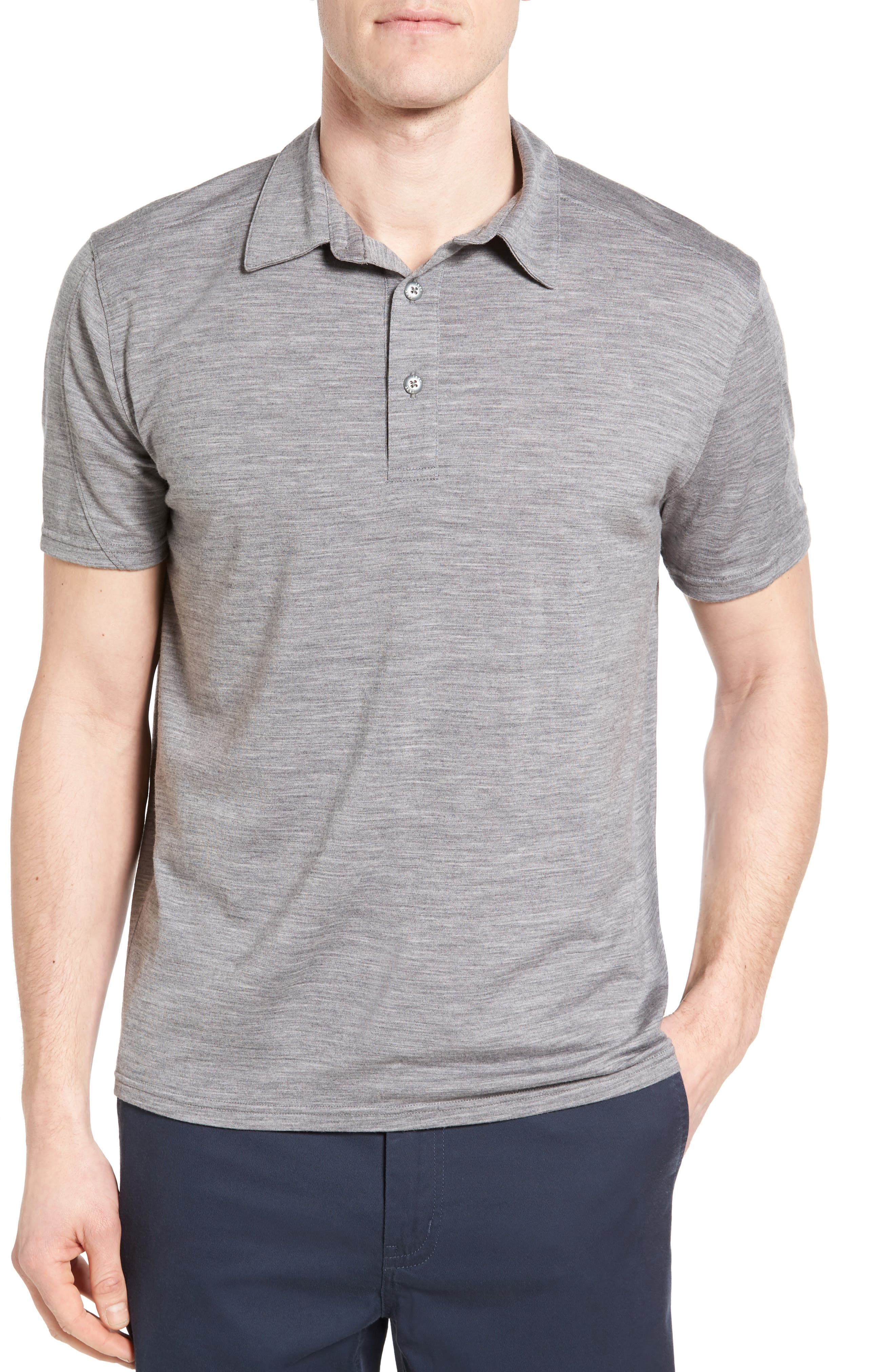 ibex 'OD' Regular Fit Merino Wool Jersey Polo