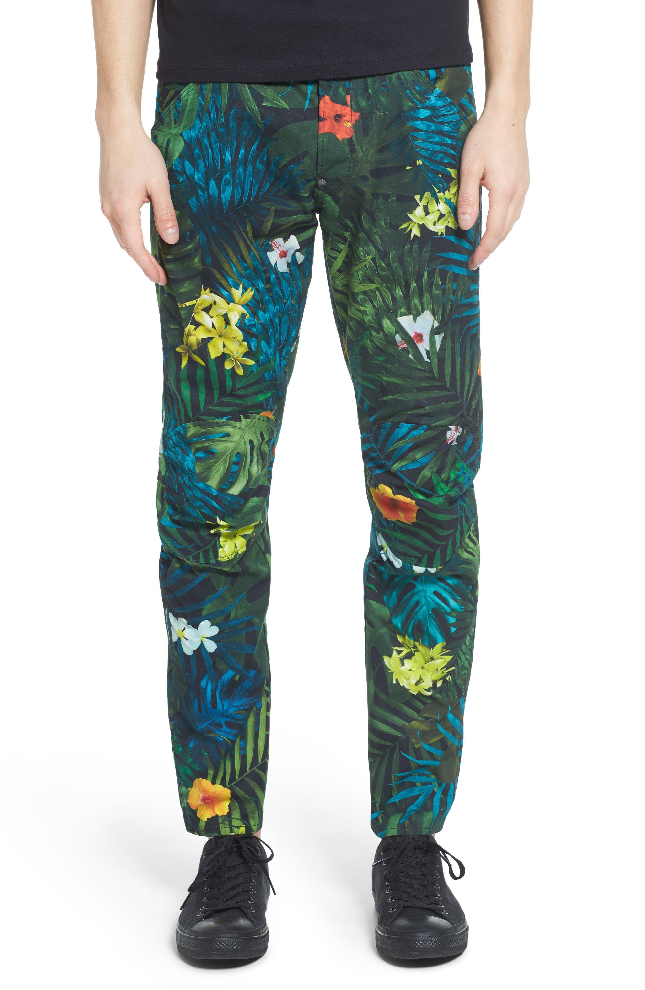 Alternate Image 1 Selected - G-Star Raw Elwood X25 Slim Fit Aloha Print Pants