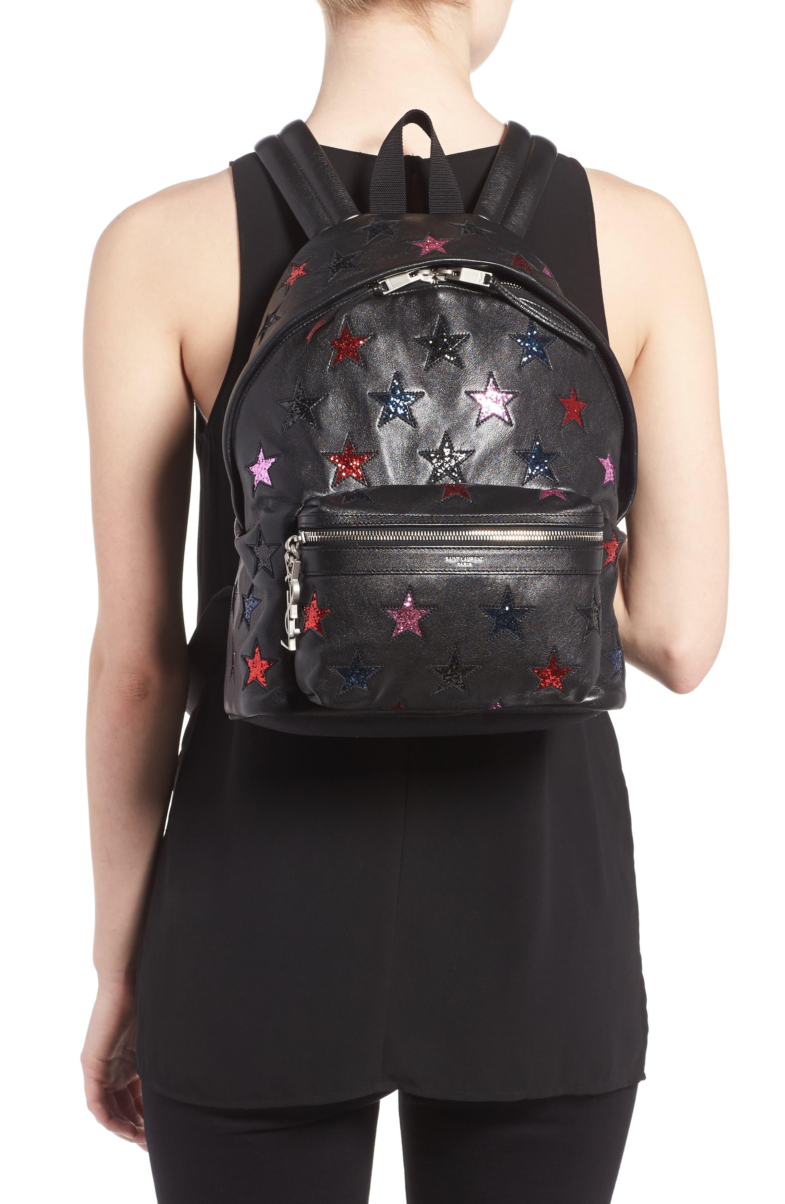 Alternate Image 2  - Saint Laurent Mini City California Star Leather Backpack