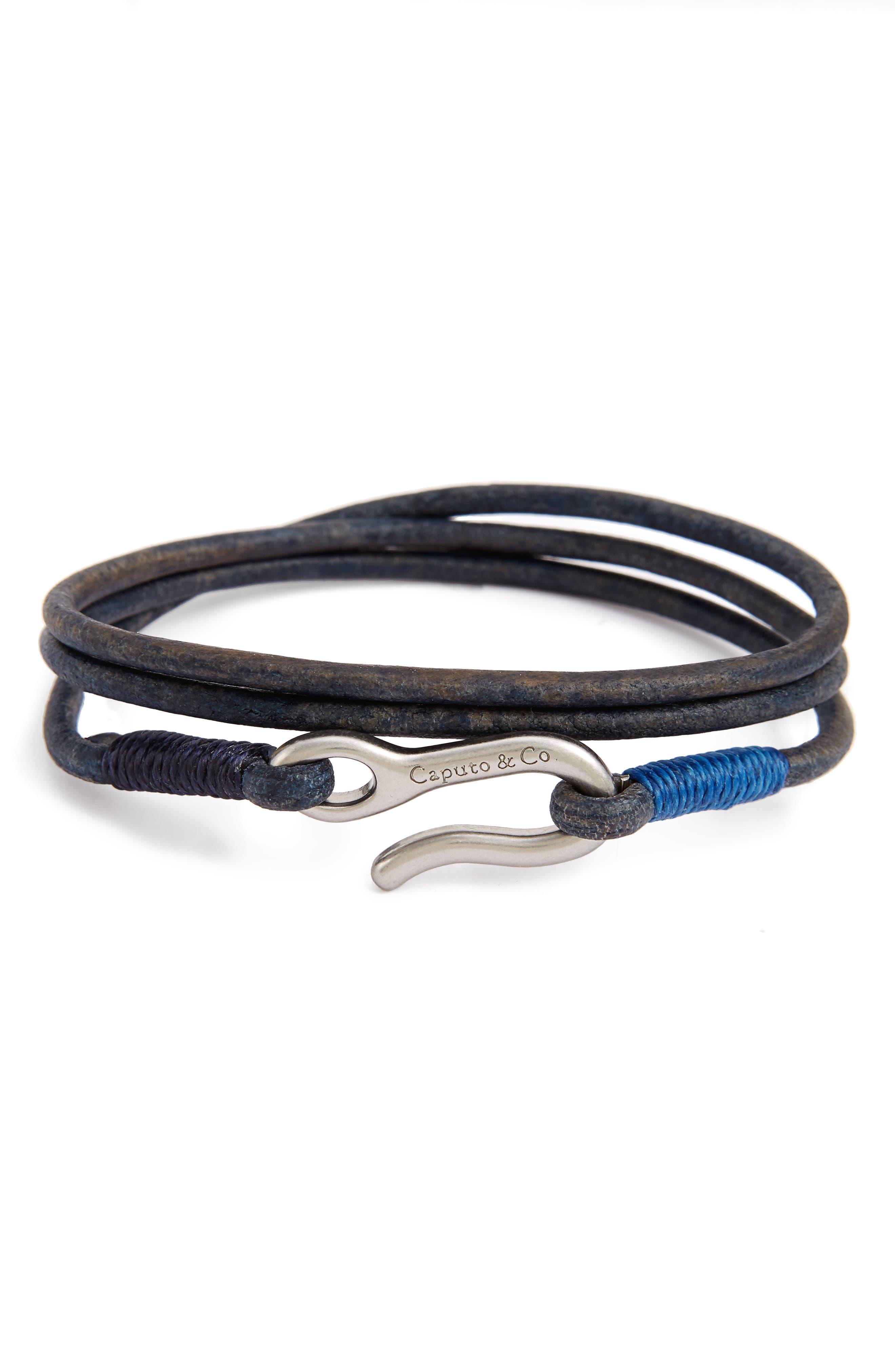 CAPUTO & CO. Leather Wrap Bracelet