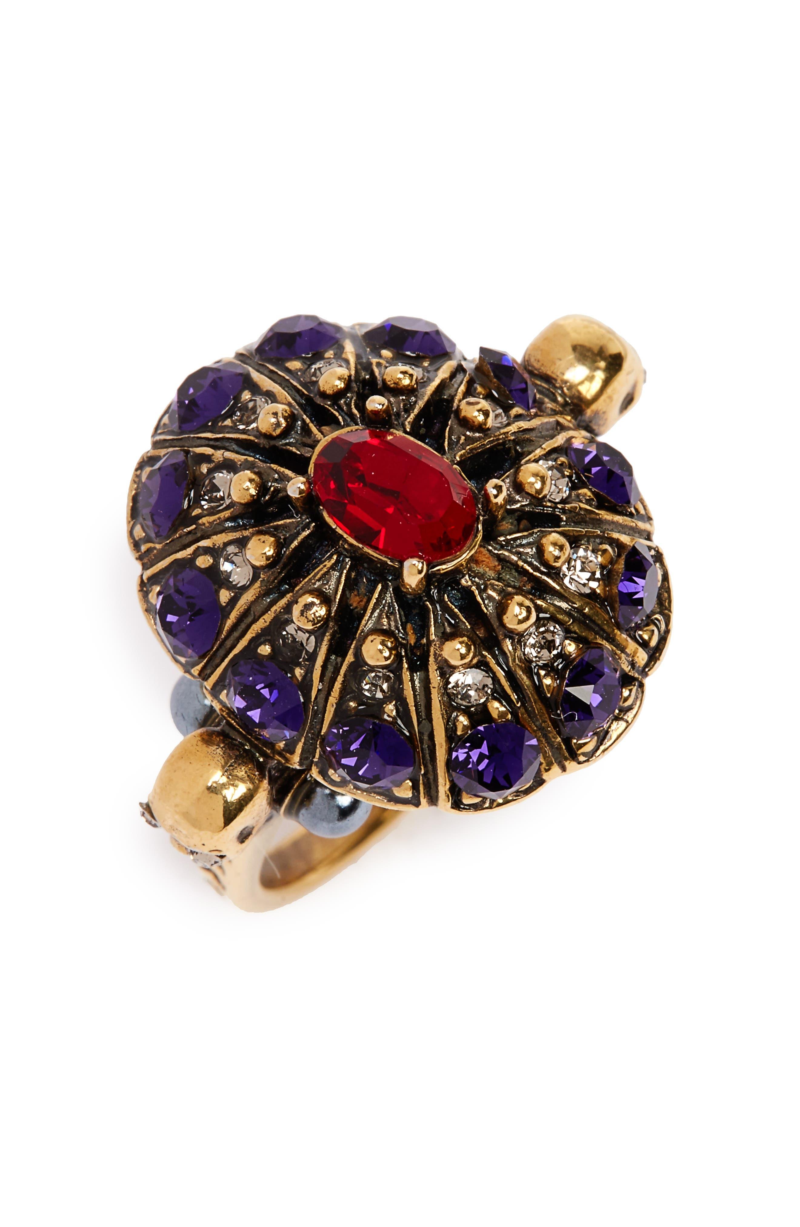 Alternate Image 1 Selected - Alexander McQueen Swarovski Crystal Ring
