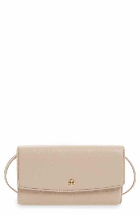 Tory Burch Leather Wallet Crossbody Bag