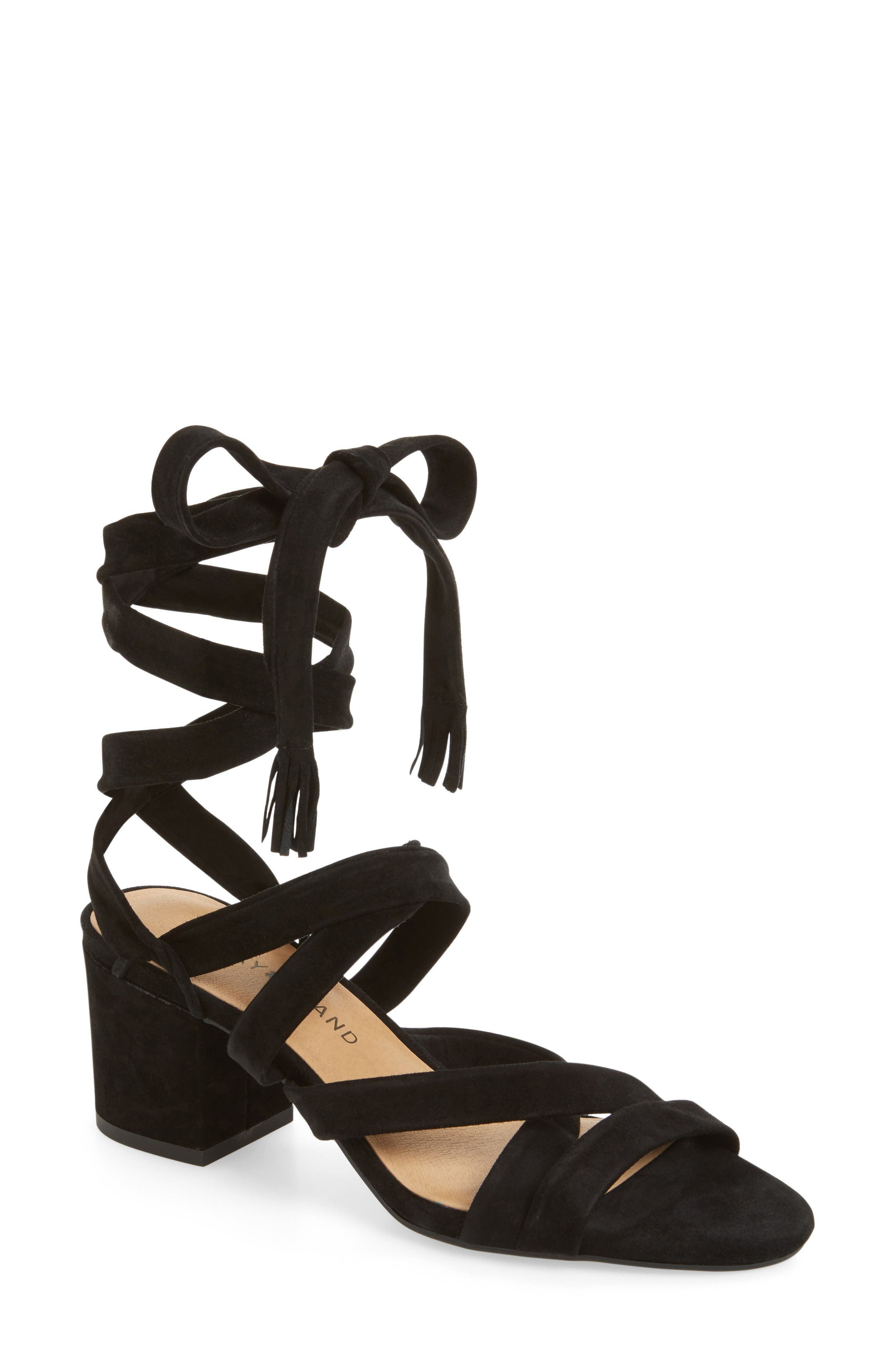 Alternate Image 1 Selected - Lucky Brand Idalina Block Heel Sandal (Women)