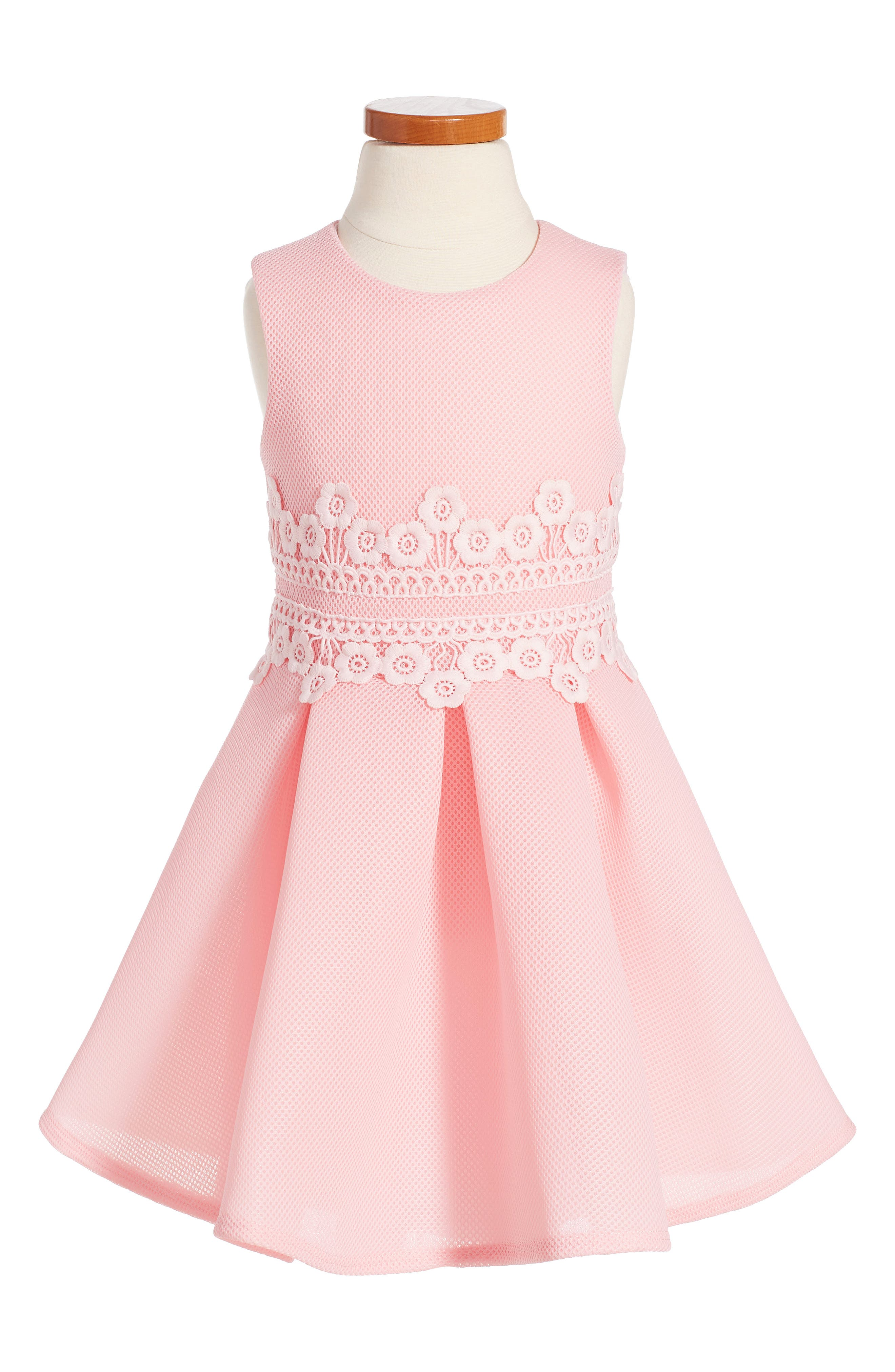 DAVID CHARLES Lace Fit & Flare Dress
