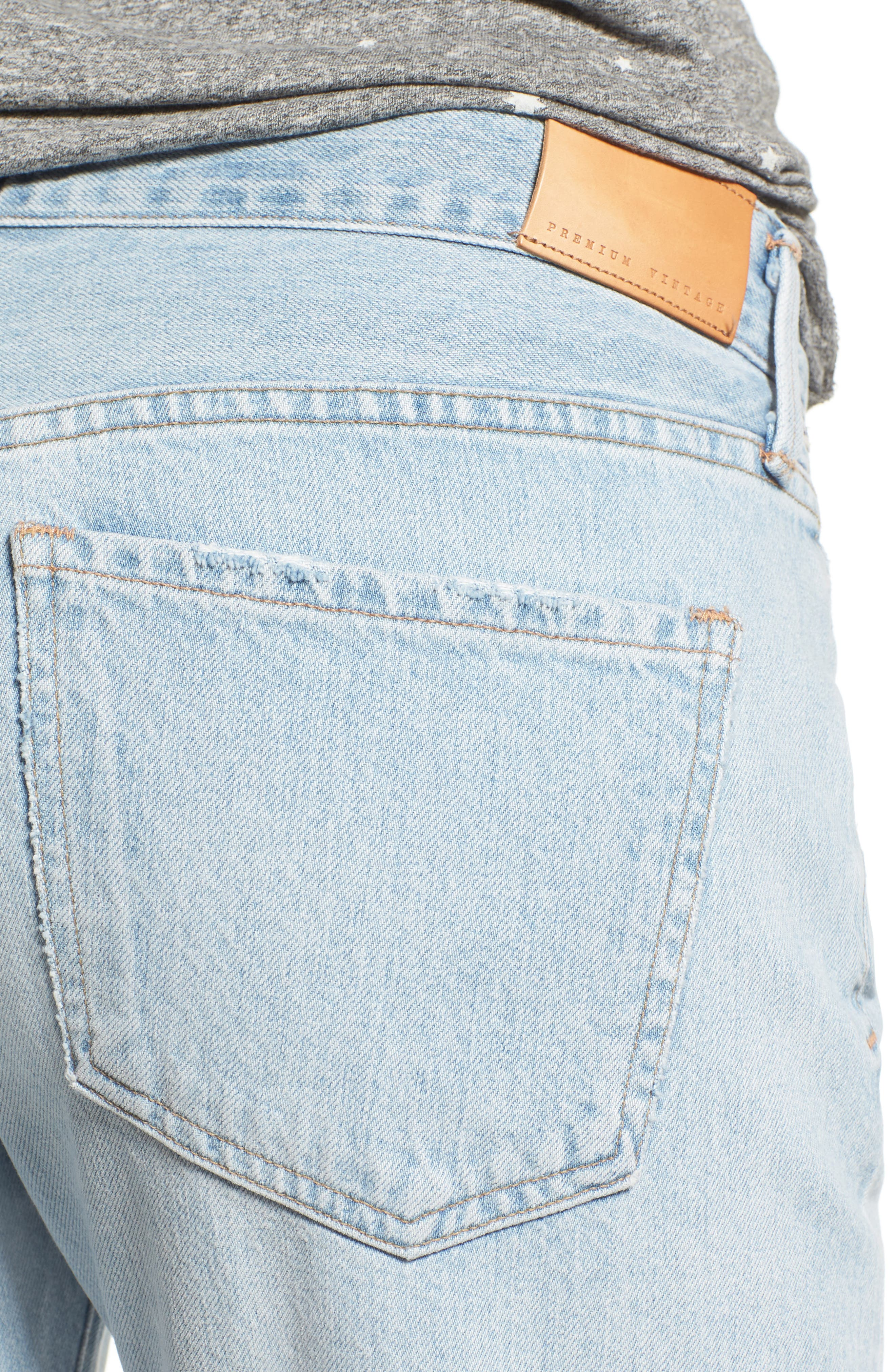 Alternate Image 4  - Citizens of Humanity Emerson High Waist Ripped Boyfriend Jeans (Distressed Rock)