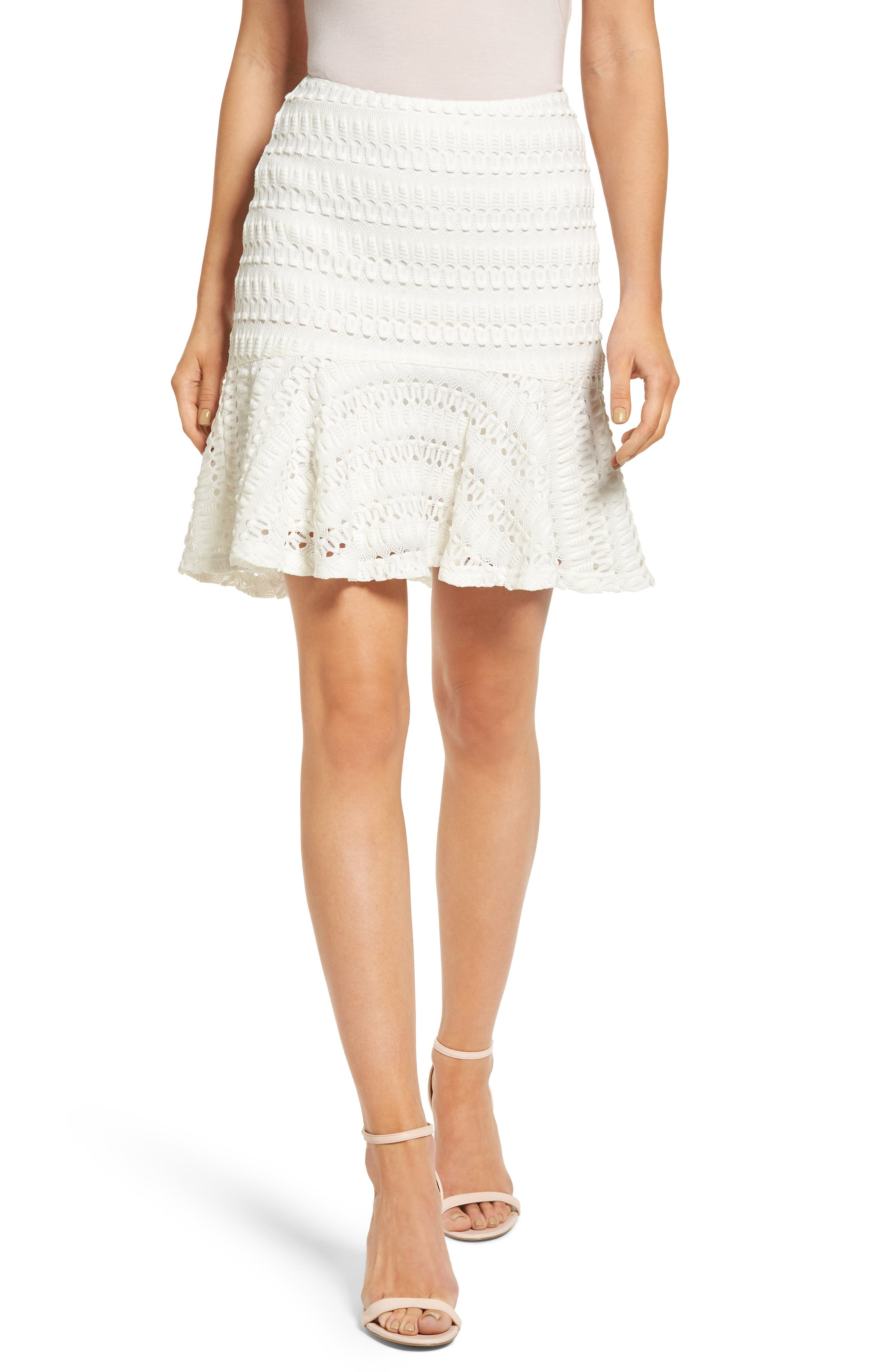 Moon River Crochet Ruffle Skirt