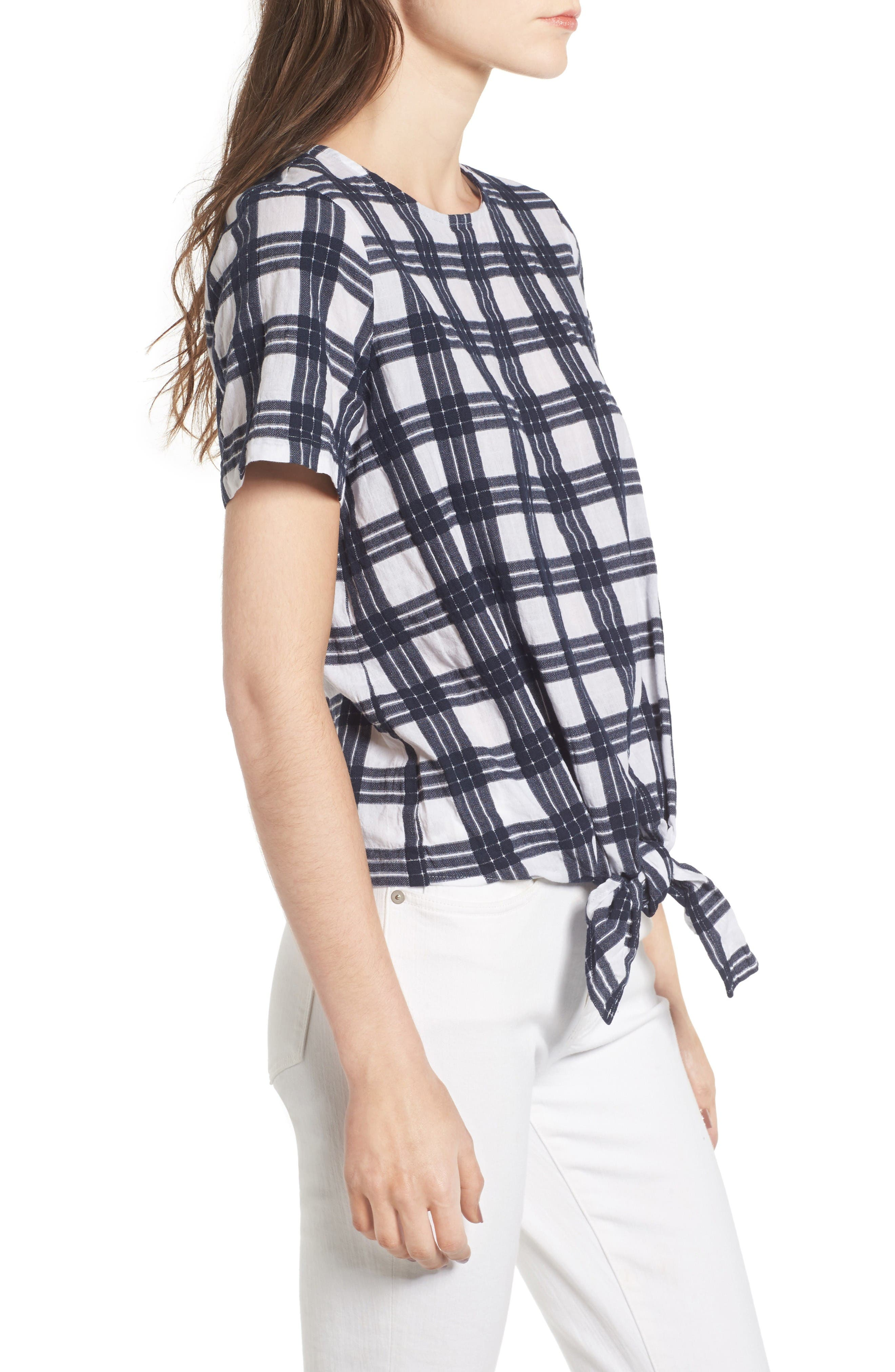 Alternate Image 3  - Madewell Plaid Tie Front Blouse