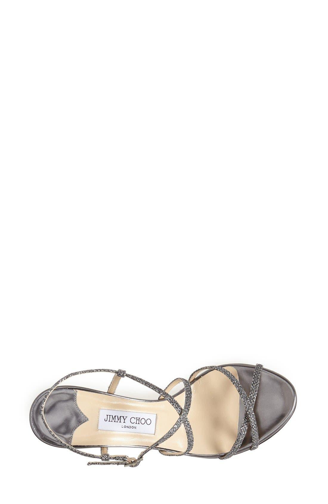 Alternate Image 3  - Jimmy Choo 'Elisa' Glitter Strap Sandal (Women)