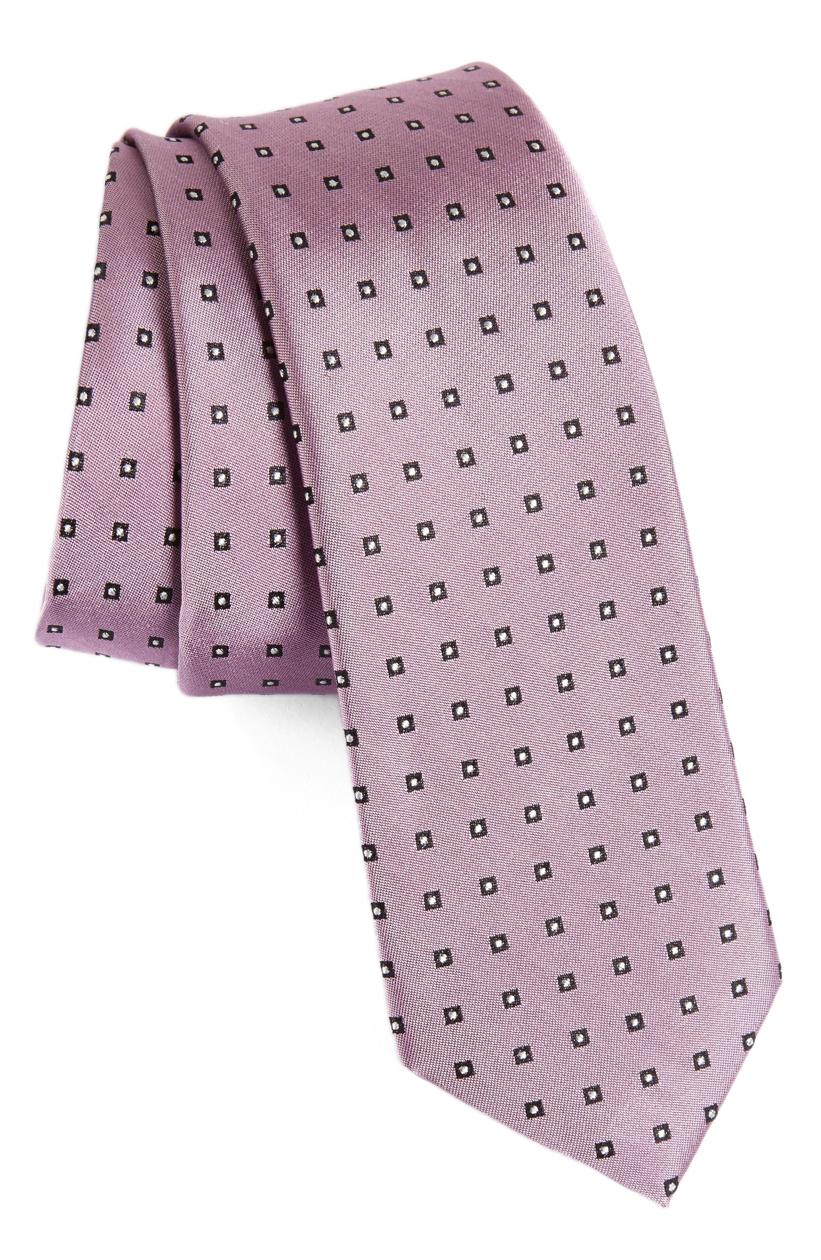 Calibrate Descrete Geometric Silk Tie