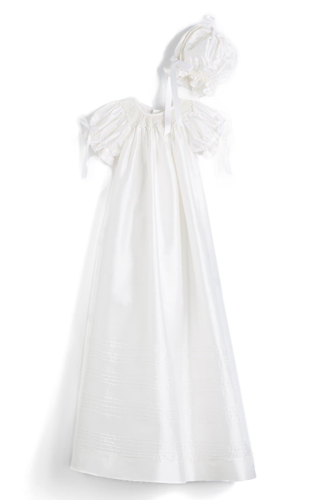 Isabel Garreton 'Garland' Silk Bishop Christening Gown & Bonnet (Baby)