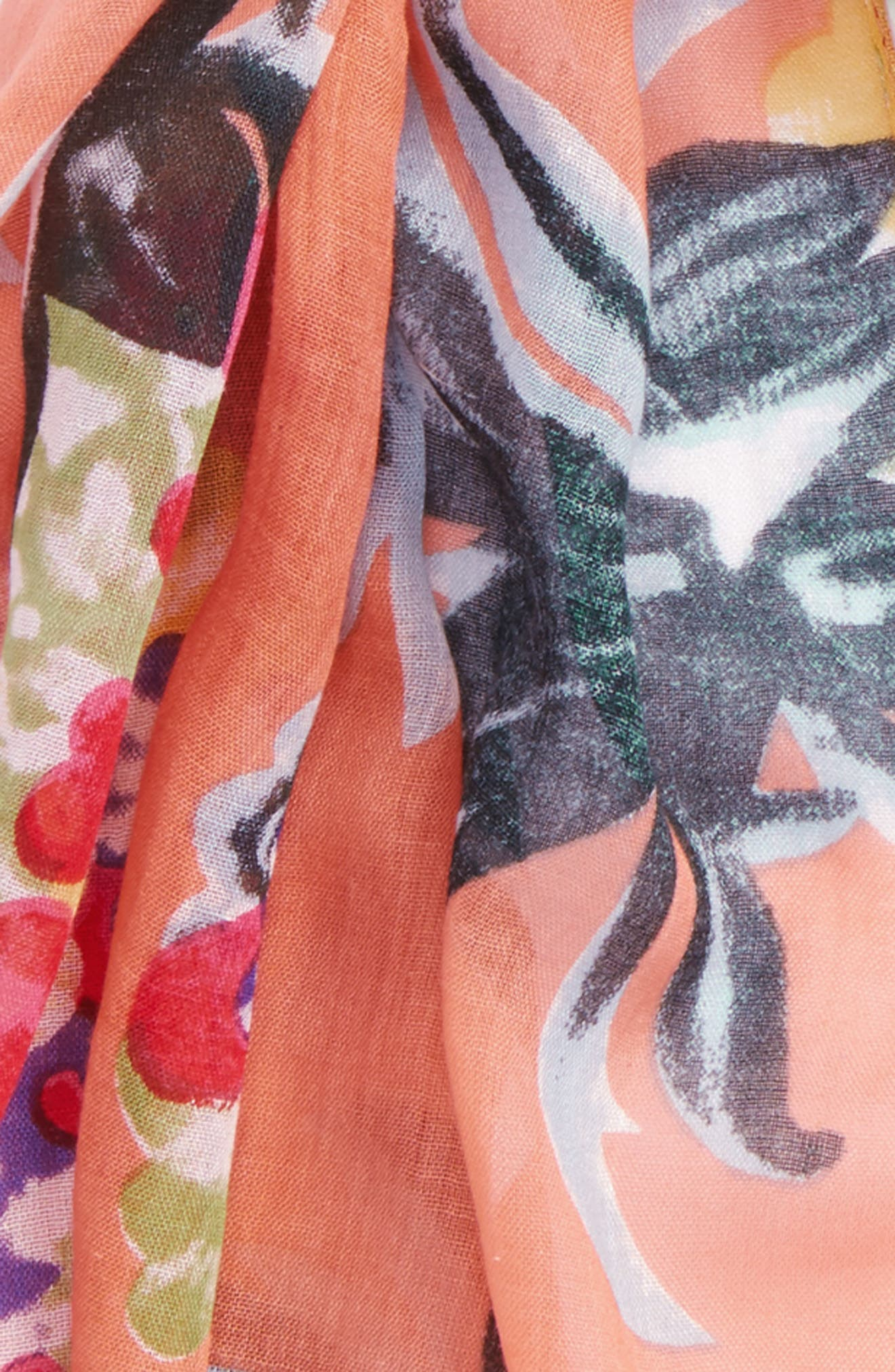 Alternate Image 2  - Sole Society Tropical Print Scarf