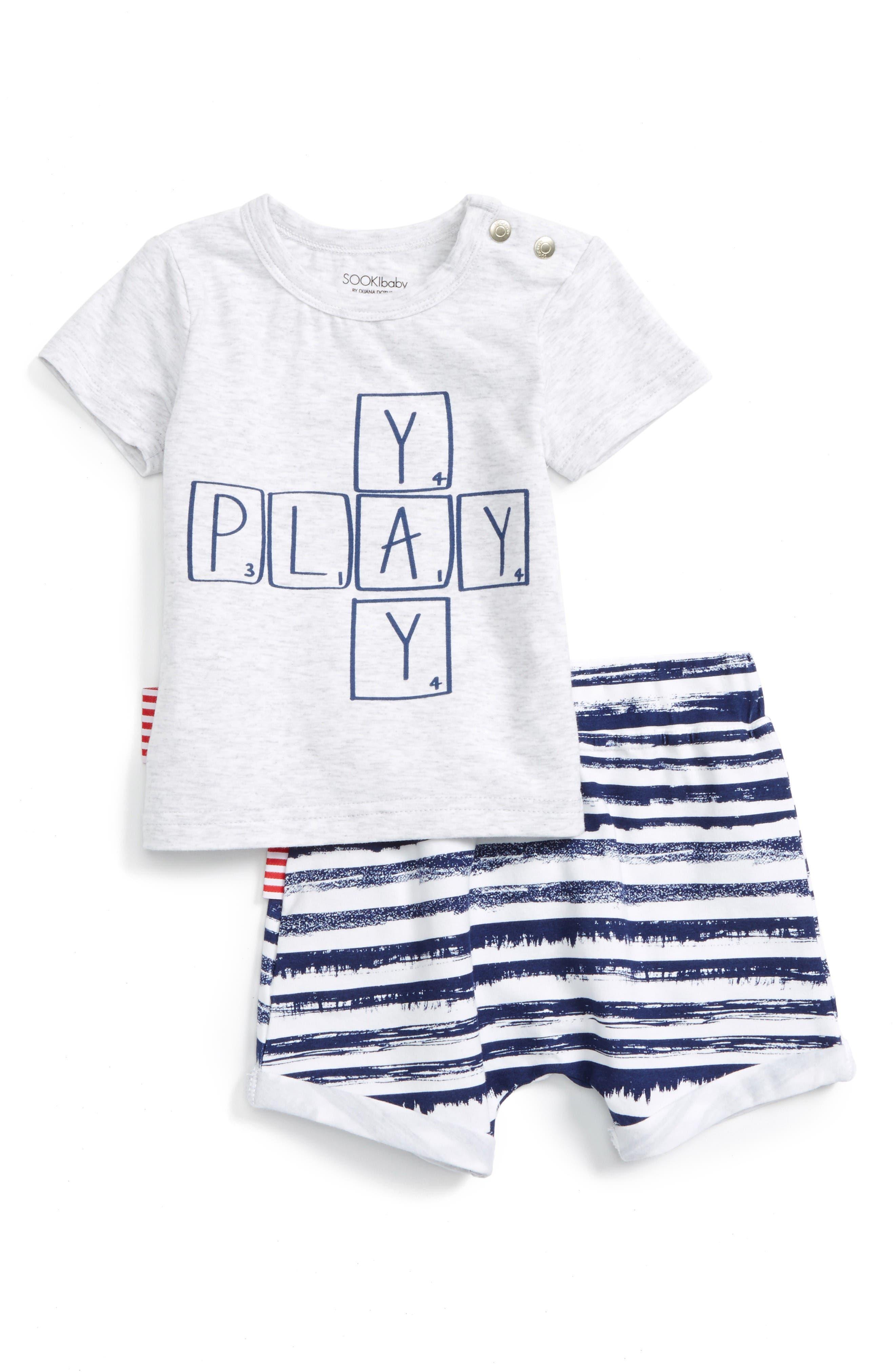SOOKIbaby Play T-Shirt & Shorts Set (Baby & Toddler)