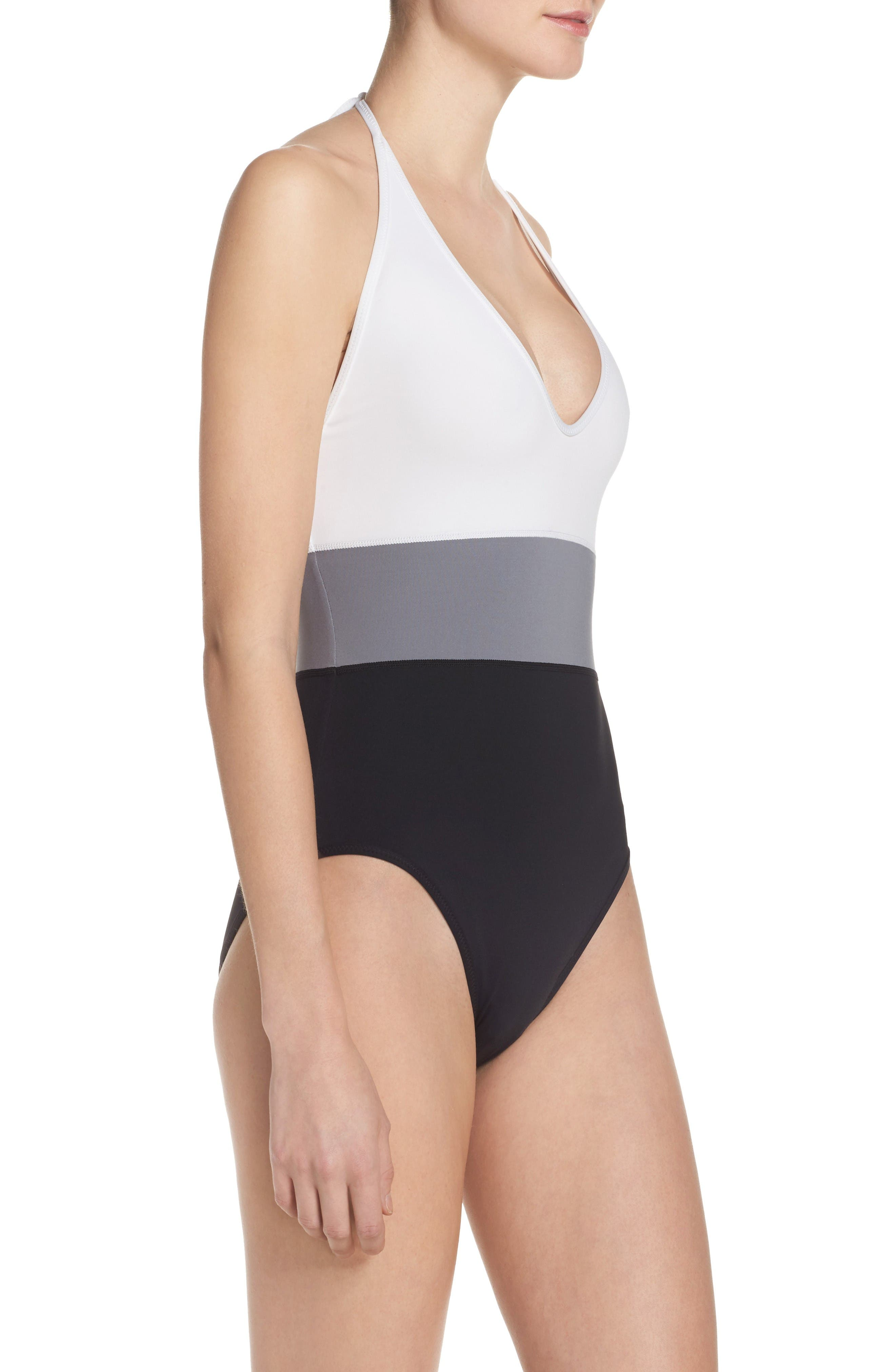 Alternate Image 3  - Vince Camuto Halter One-Piece Swimsuit