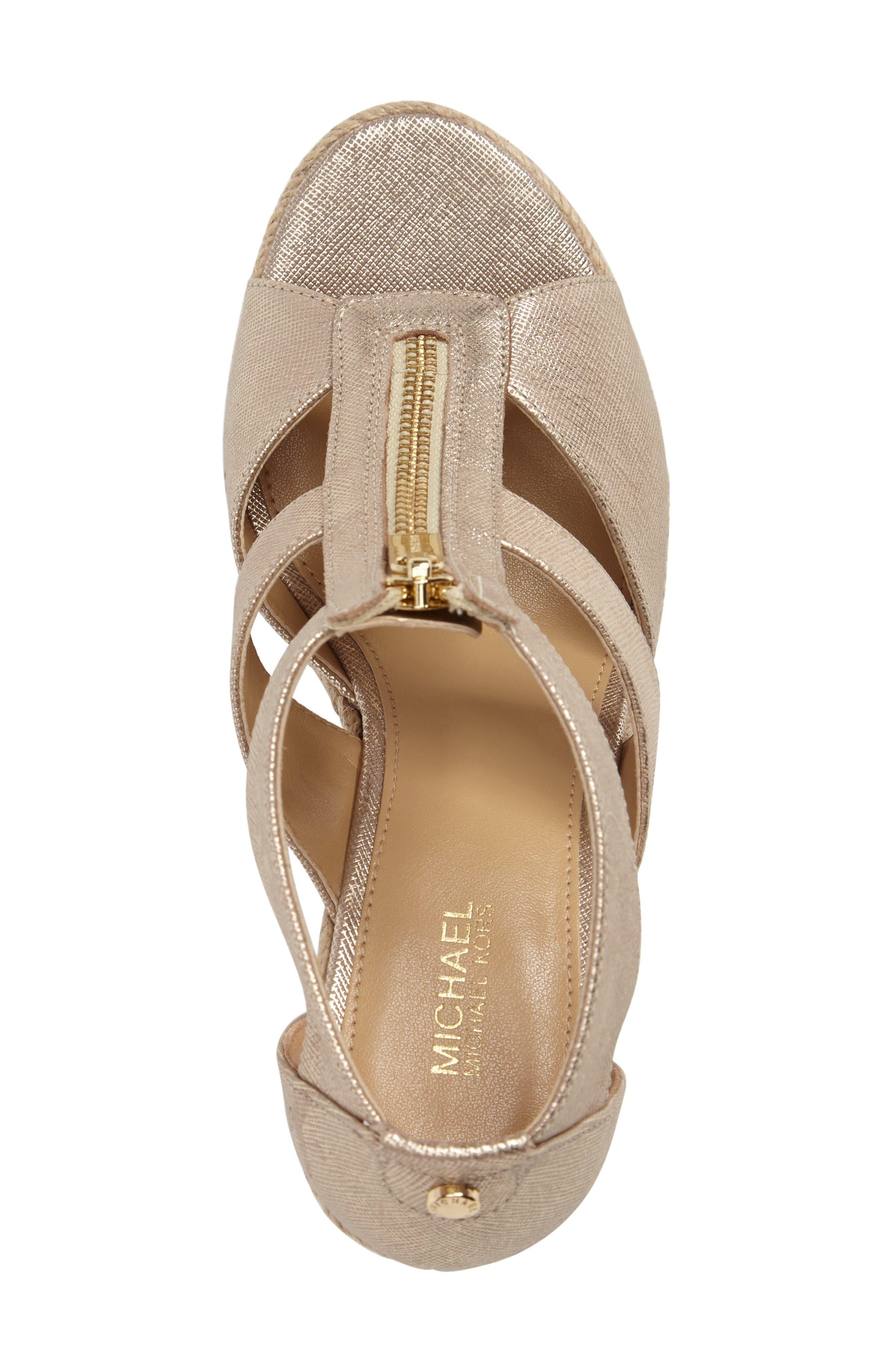 Alternate Image 5  - MICHAEL Michael Kors 'Damita' Wedge Sandal (Women)
