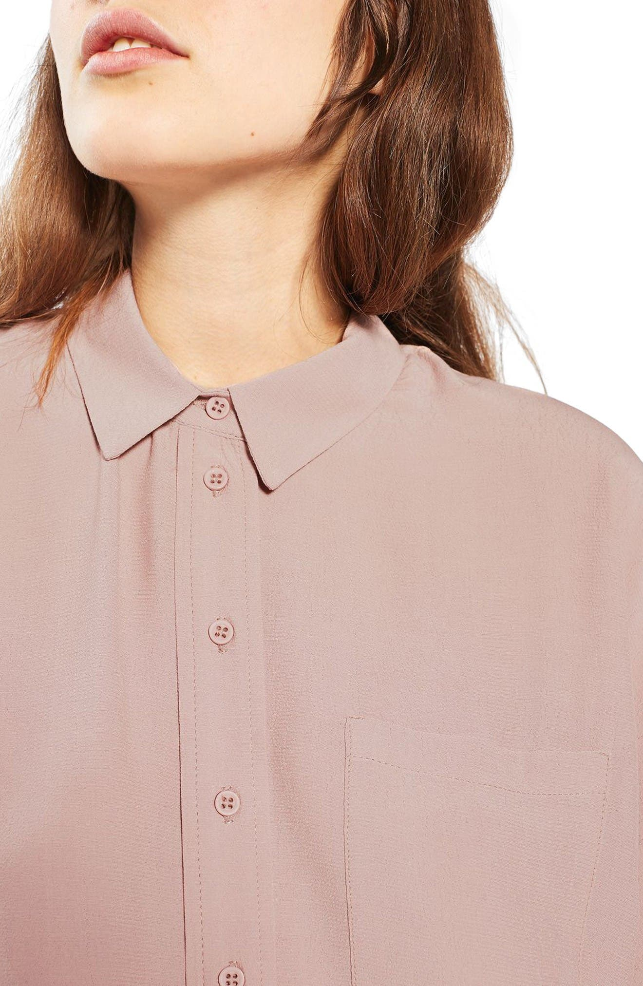 Alternate Image 5  - Topshop Kady Roll Sleeve Shirt