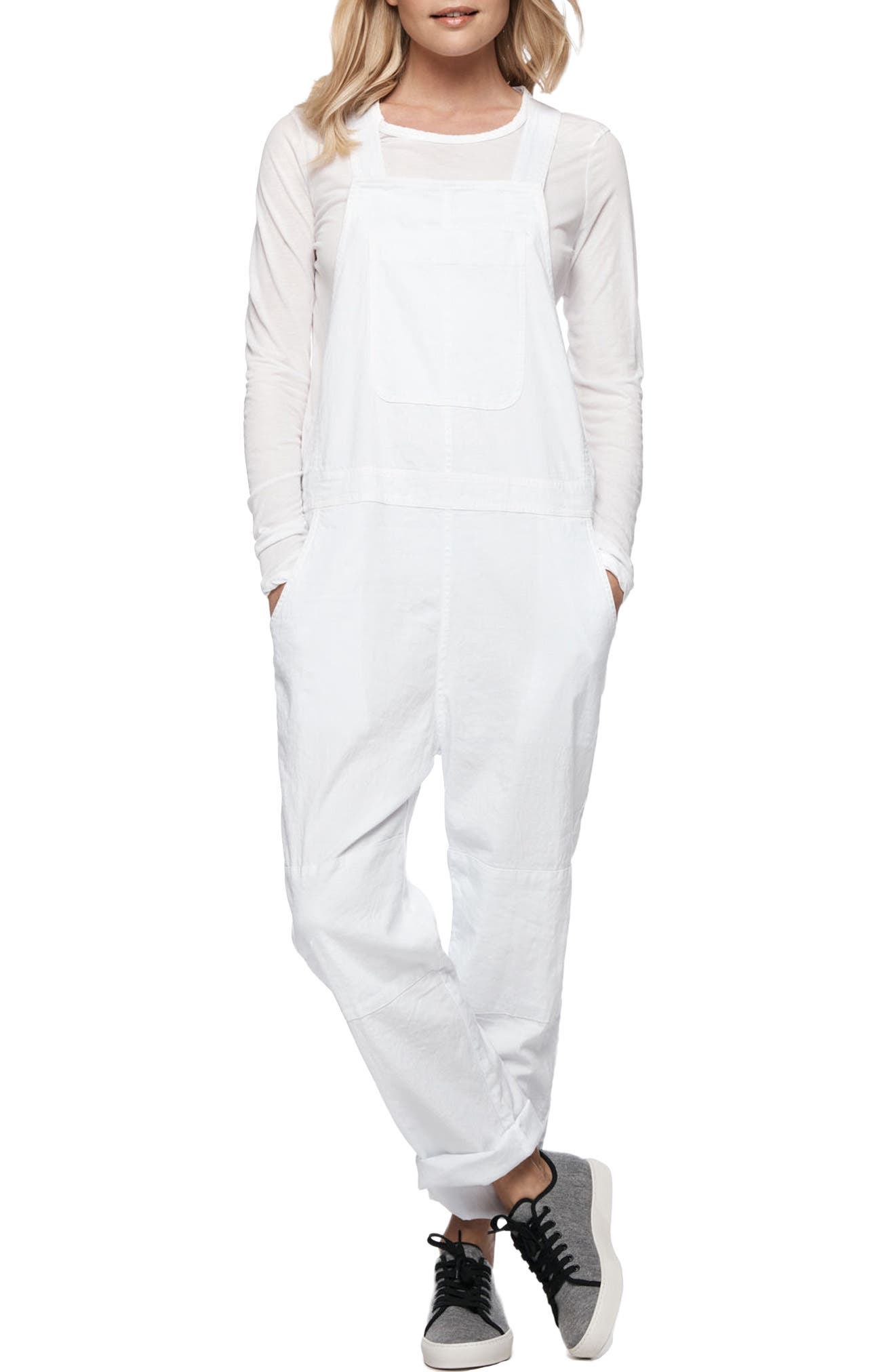Alternate Image 1 Selected - James Perse Cotton Linen Overalls