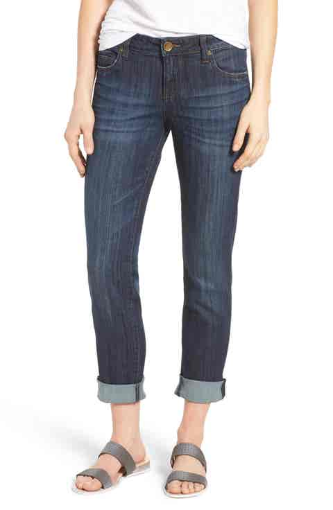 KUT from the Kloth Catherine Boyfriend Jeans (Enticement) (Regular   Petite)
