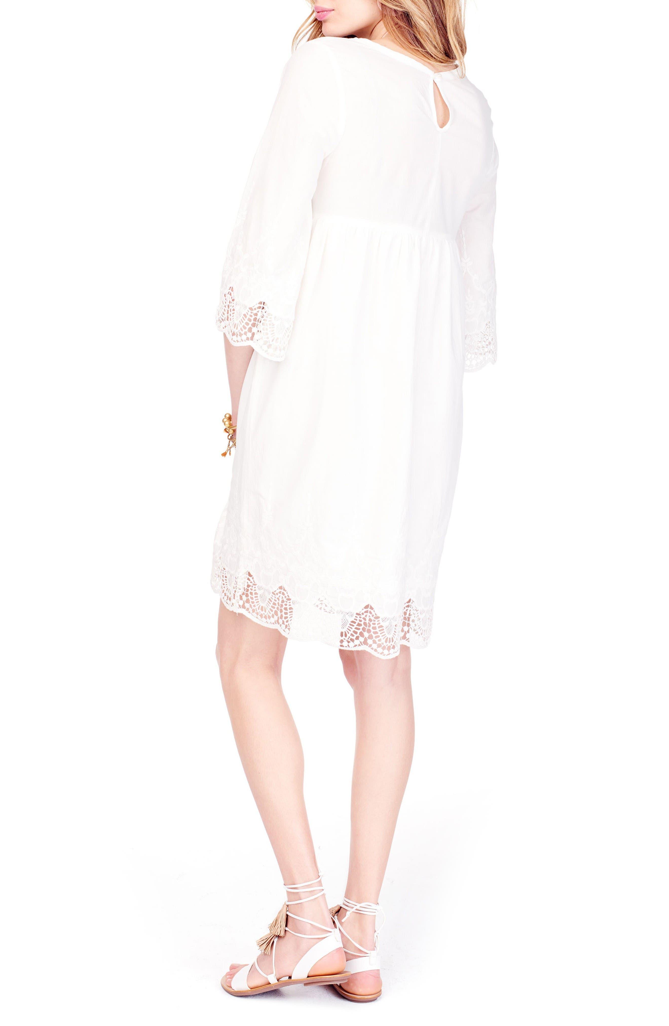 Alternate Image 3  - Ingrid & Isabel® Lace Trim Maternity Dress