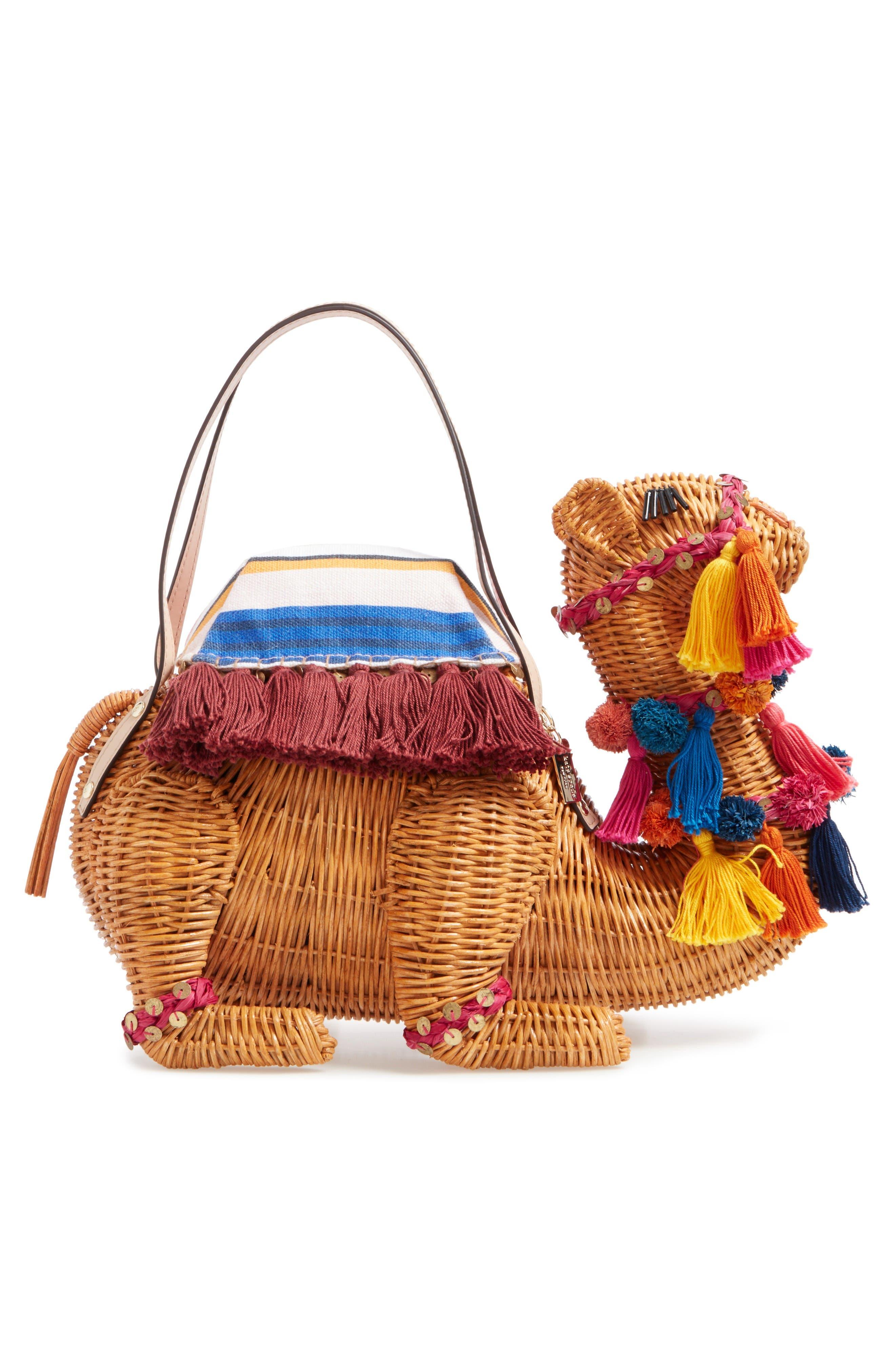 Alternate Image 3  - kate spade new york spice things up wicker camel handbag