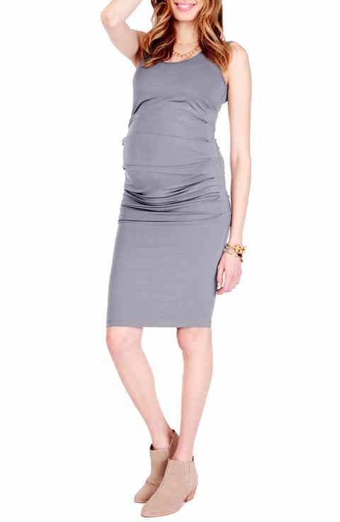 Ingrid   Isabel® Ruched Maternity Tank Dress