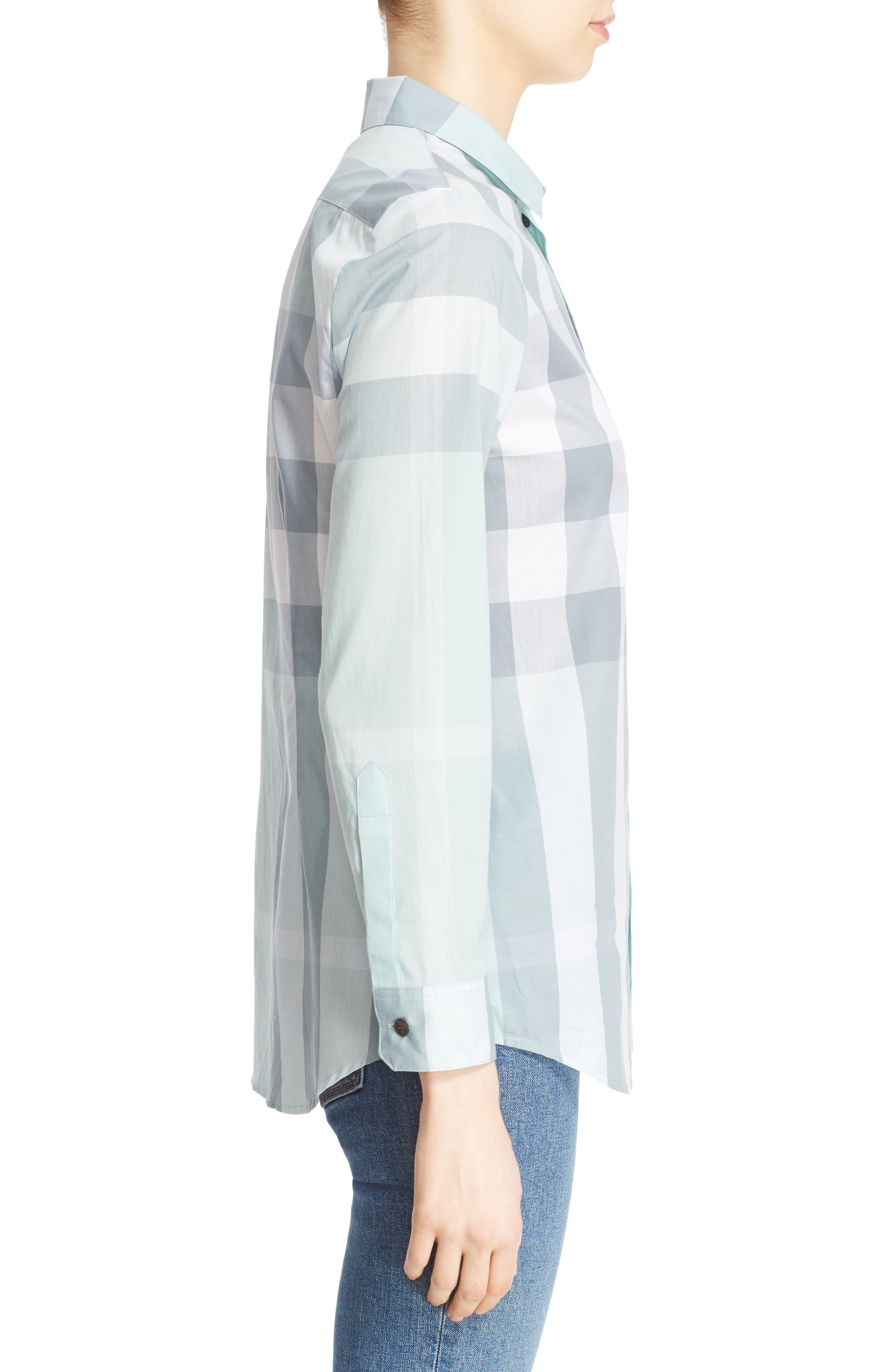 Alternate Image 5  - Burberry Check Print Cotton Shirt