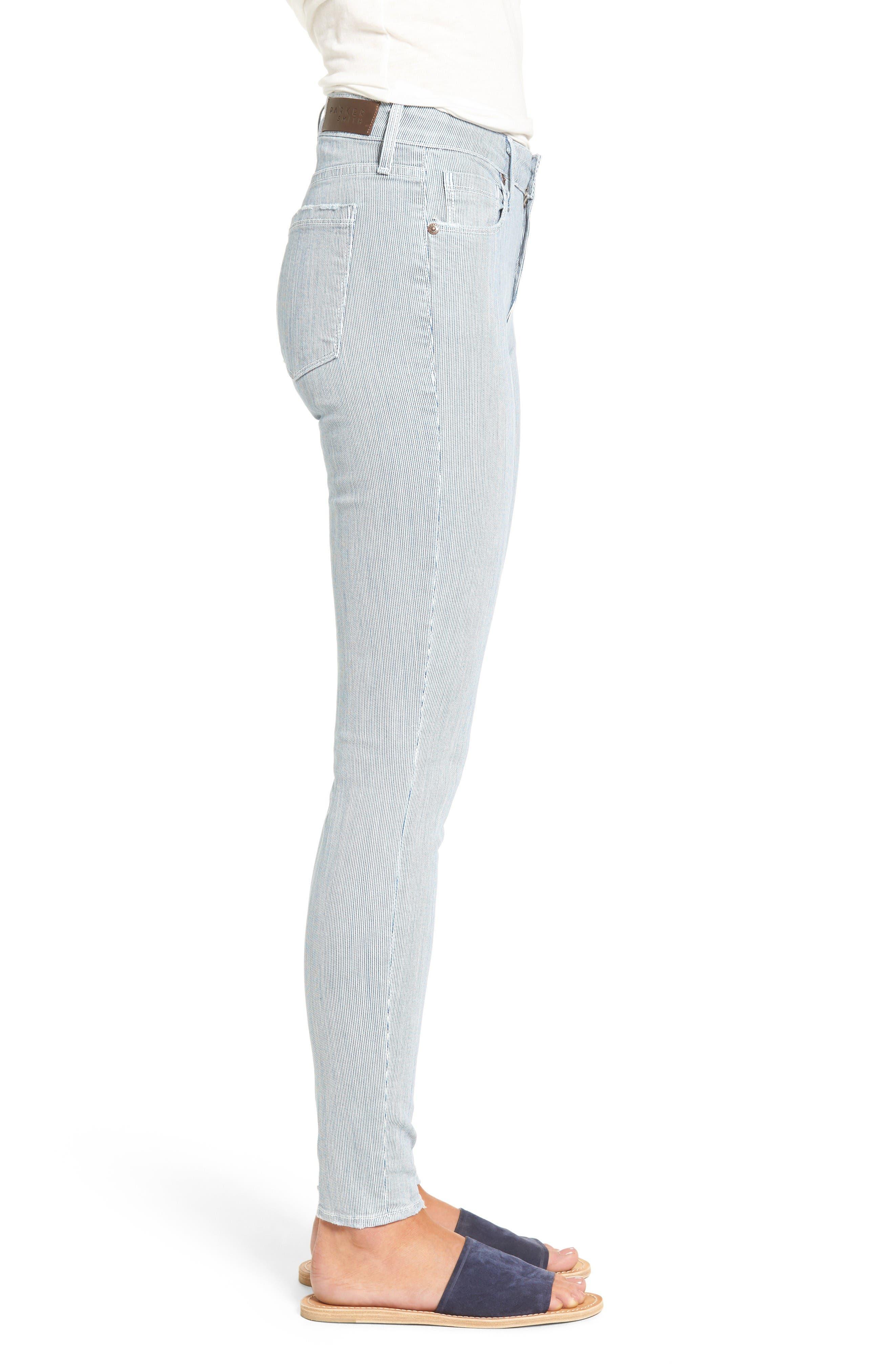 Alternate Image 3  - PARKER SMITH Ava Railroad Stripe Skinny Jeans (Engineer)