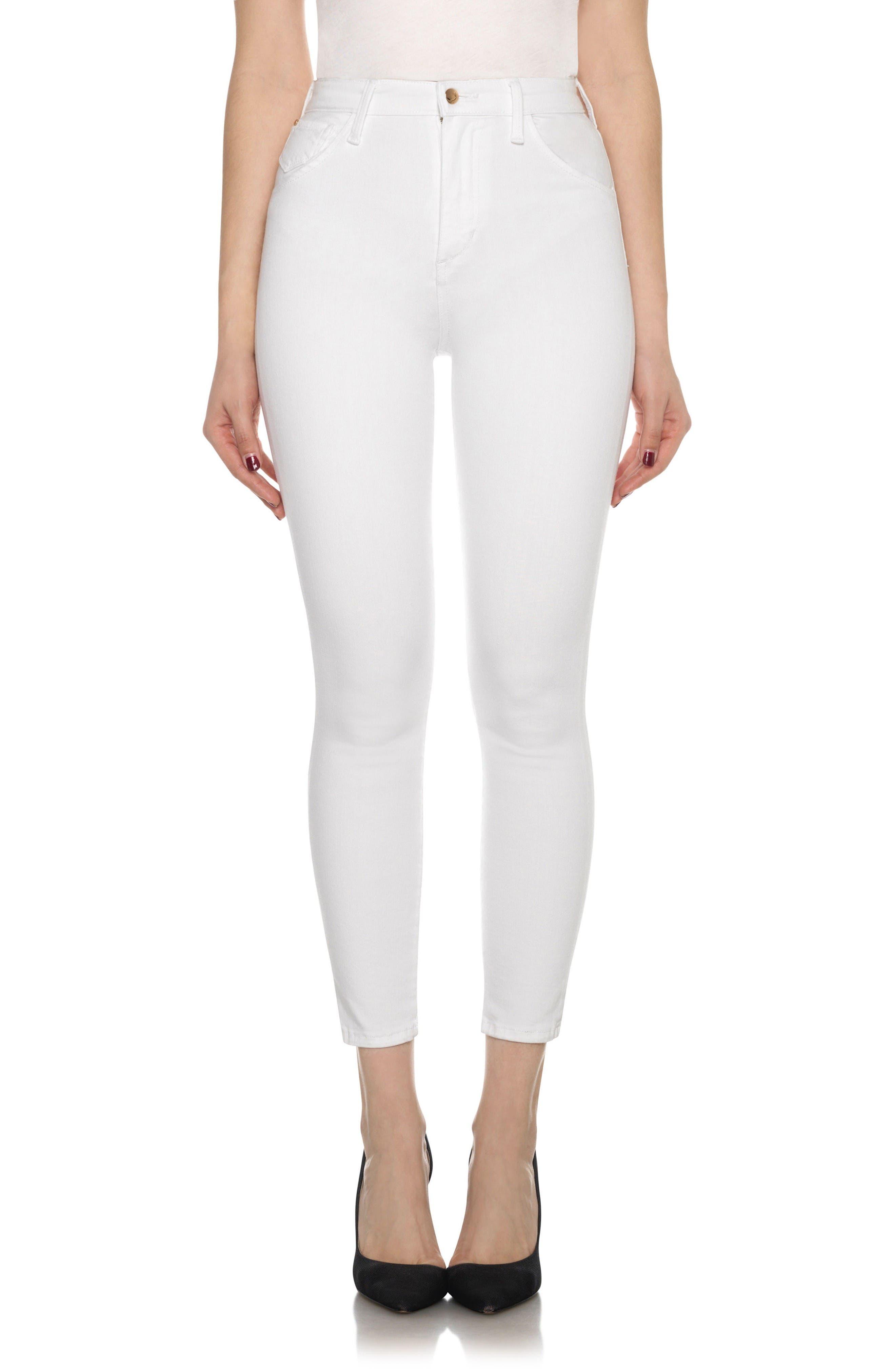 Joe's Bella High Waist Crop Skinny Jeans (Hennie)