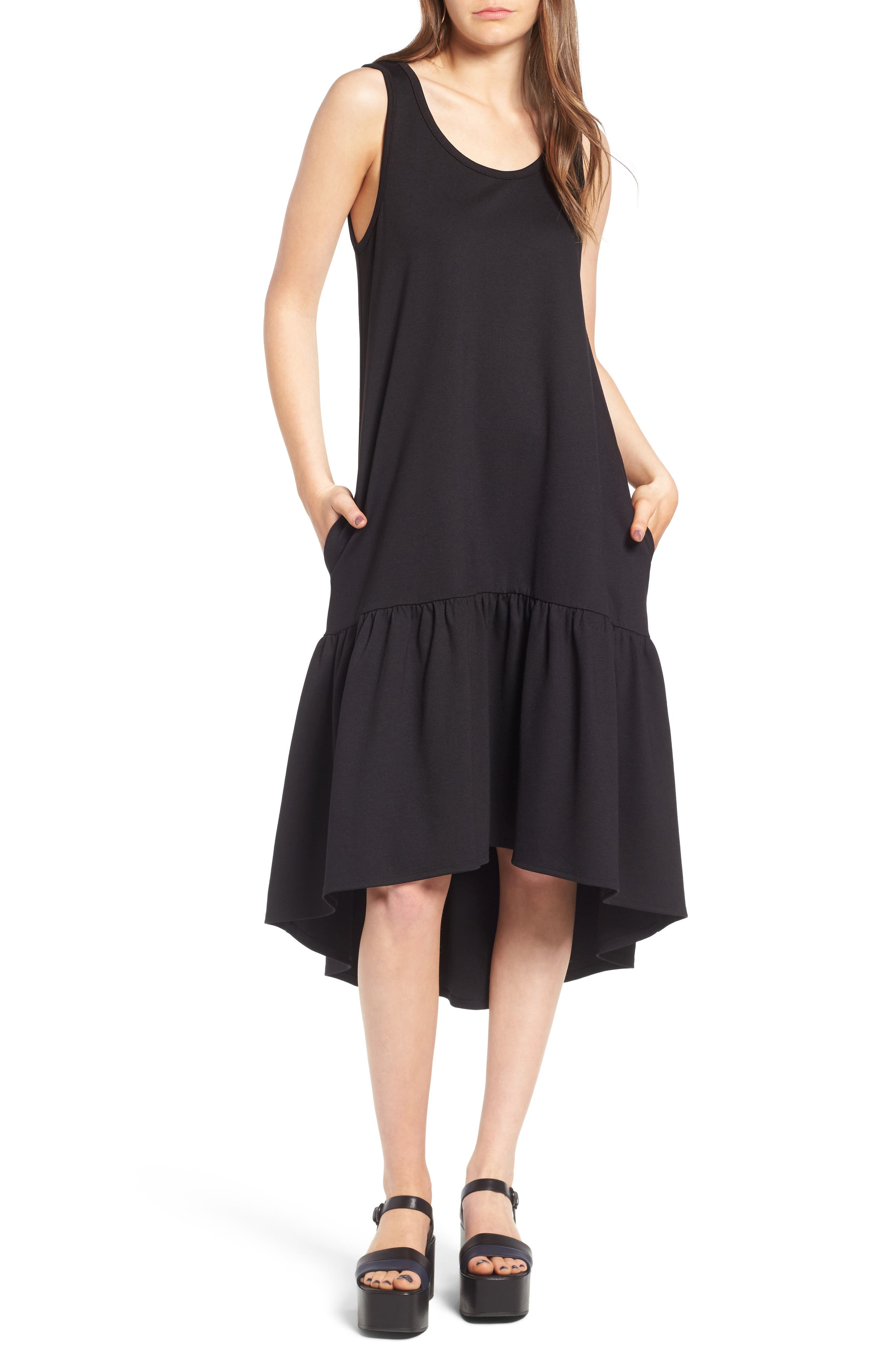 Alternate Image 1 Selected - Leith Flounce Midi Dress