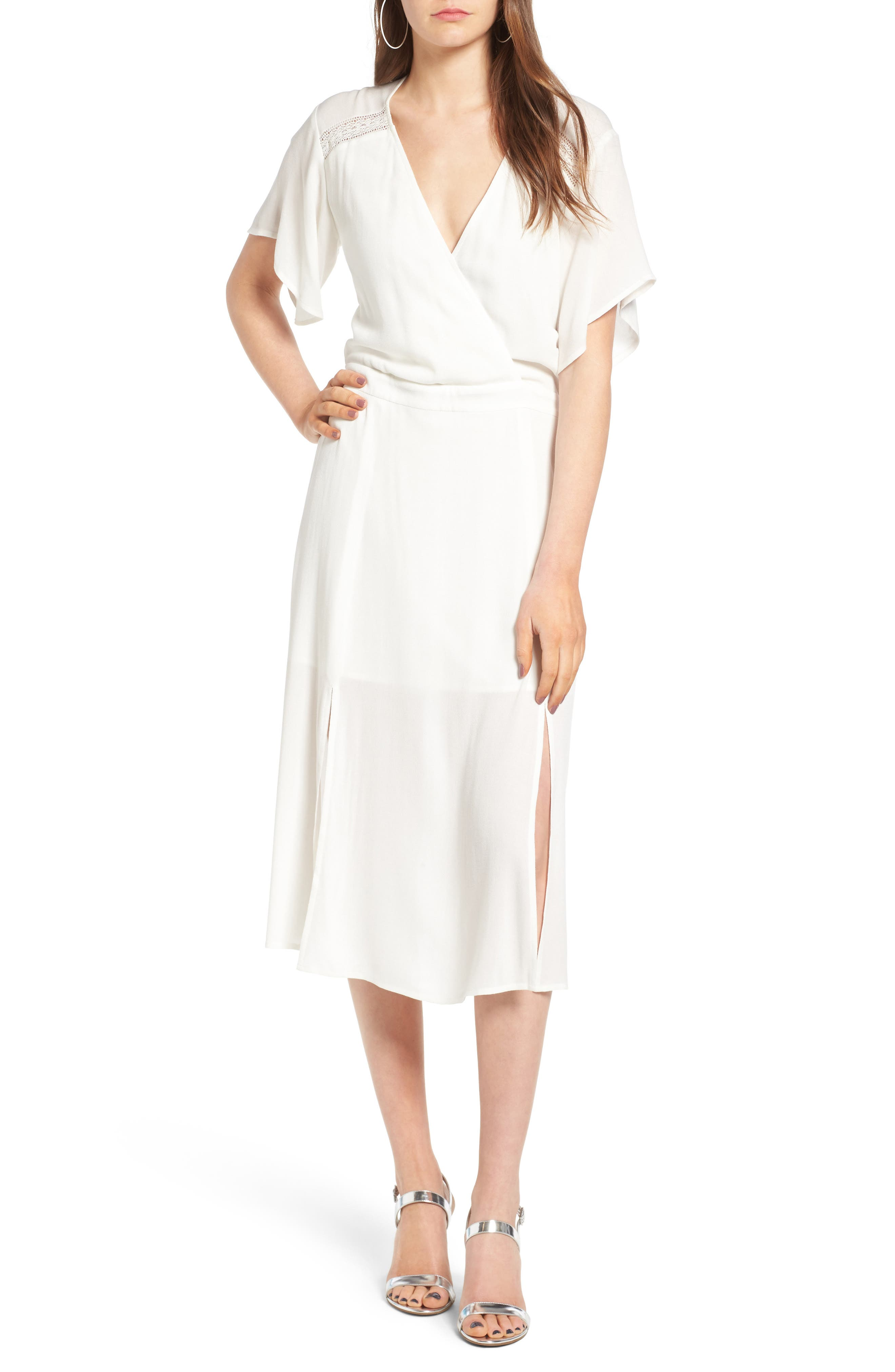 Leith Surplice Midi Dress