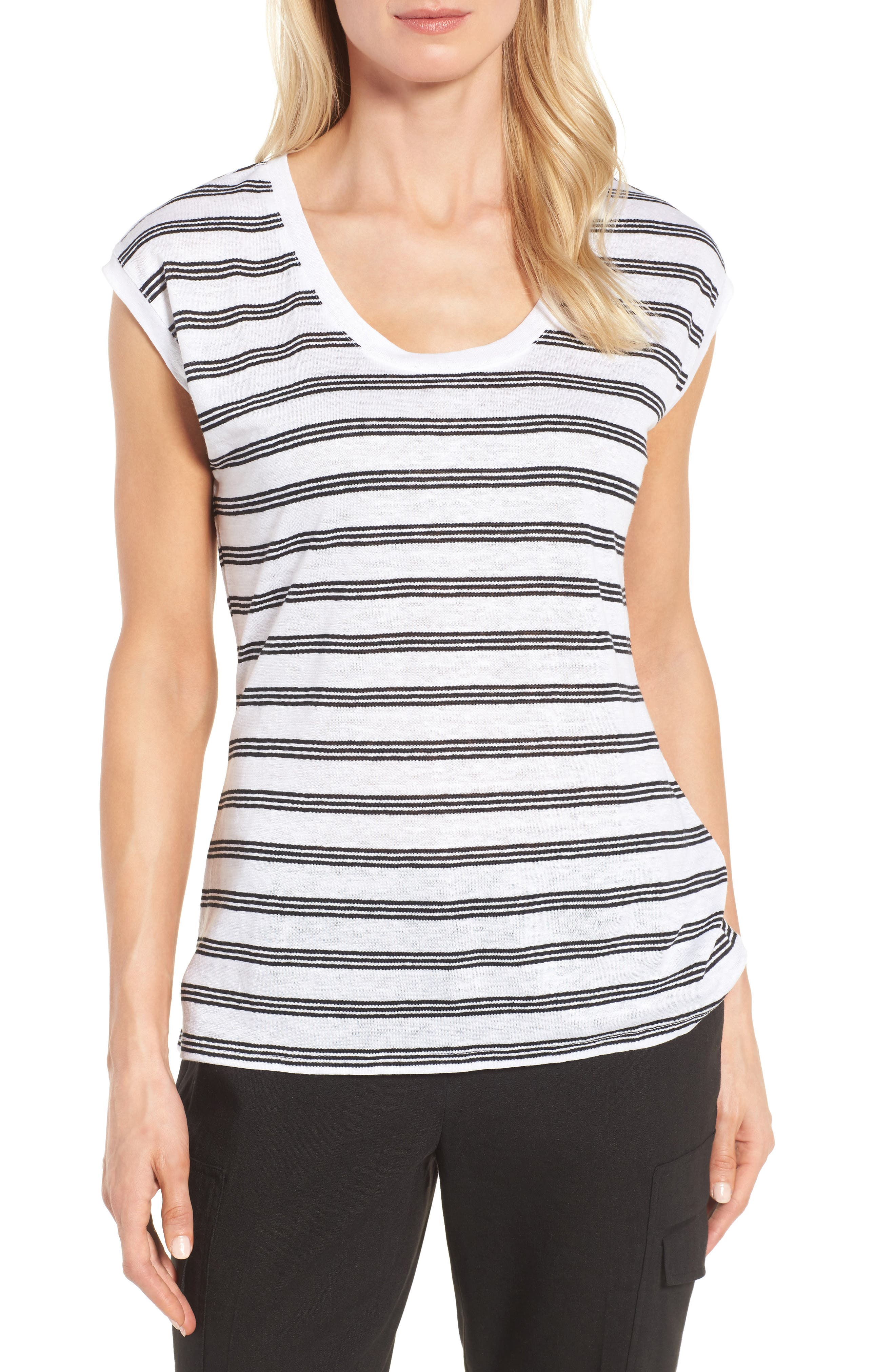 Nordstrom Collection Linen Jersey Tee
