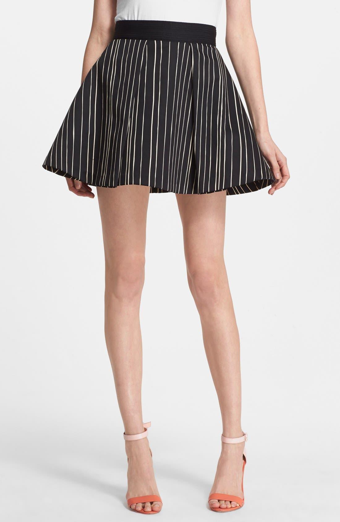 Main Image - Alice + Olivia 'Libby' Stripe Flared Skirt