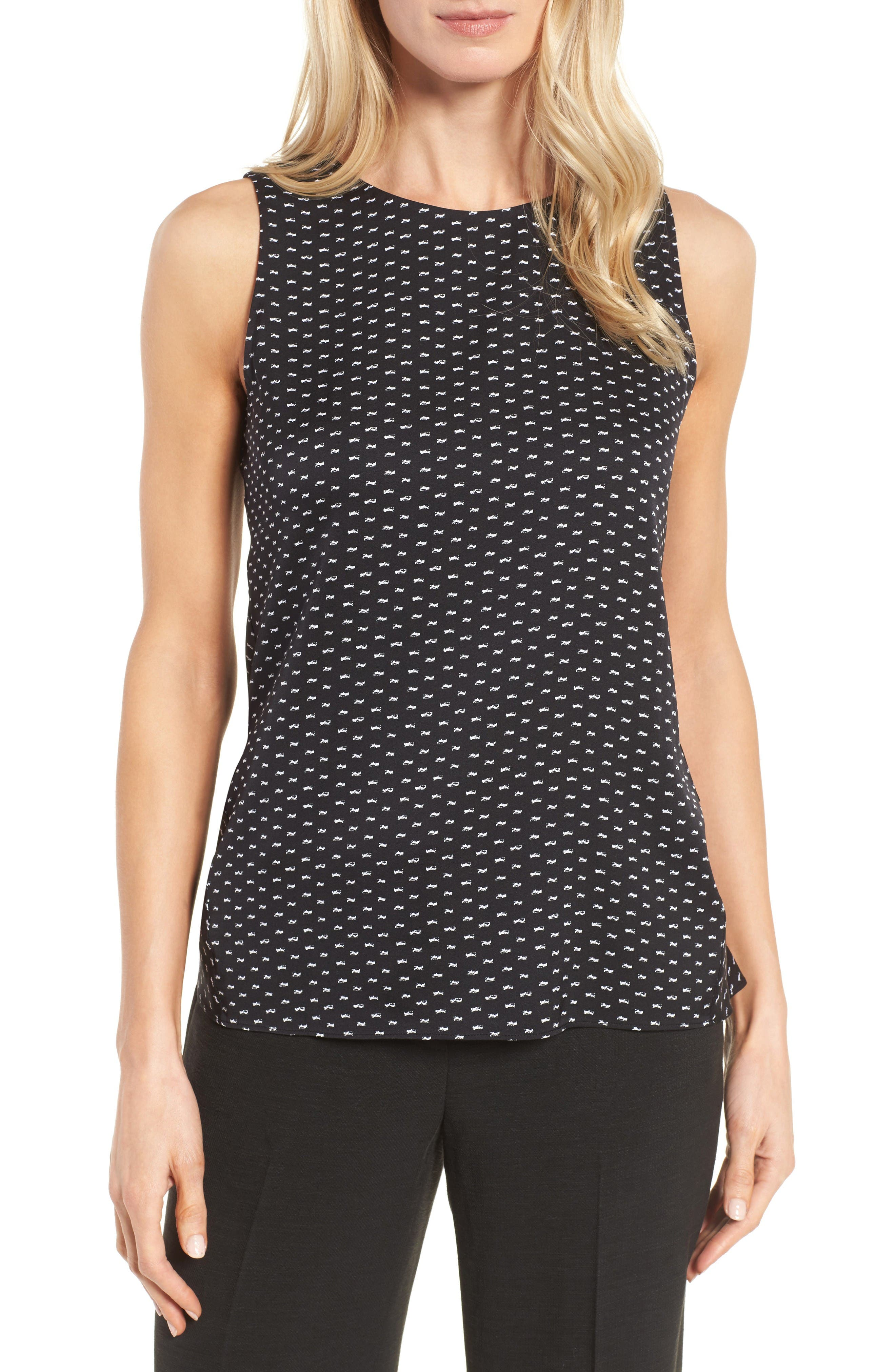 Alternate Image 1 Selected - Classiques Entier® Stretch Silk Tank