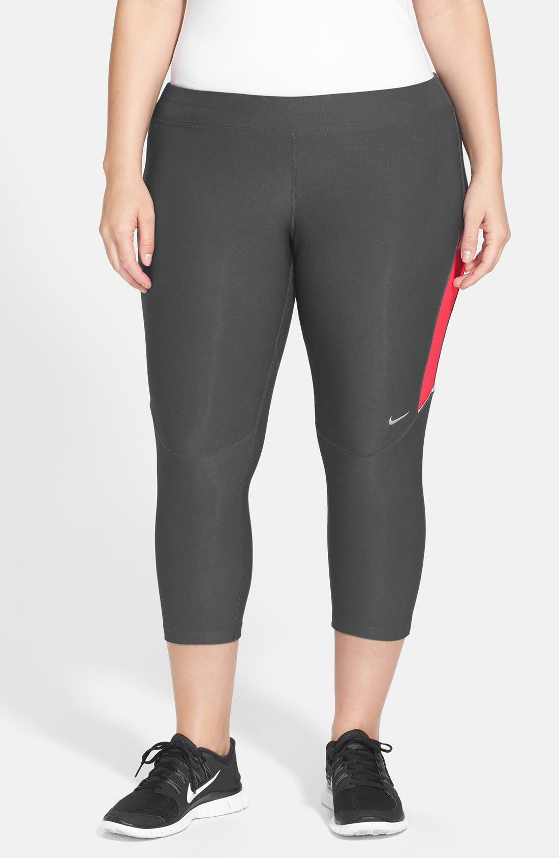 Alternate Image 1 Selected - Nike 'Filament' Capris (Plus Size) (Online Only)